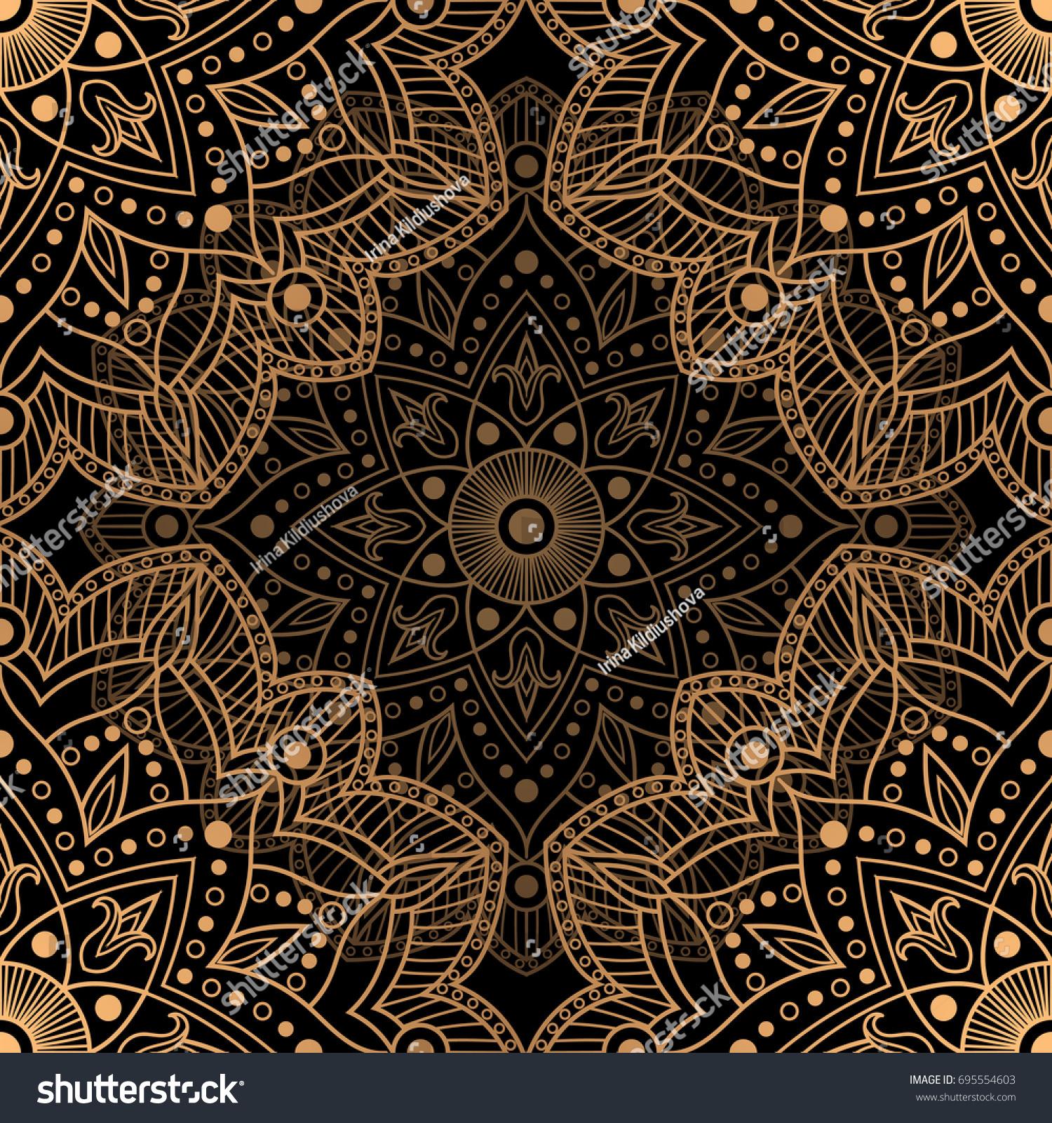 Golden Luxury Background Vector Gold Black 695554603