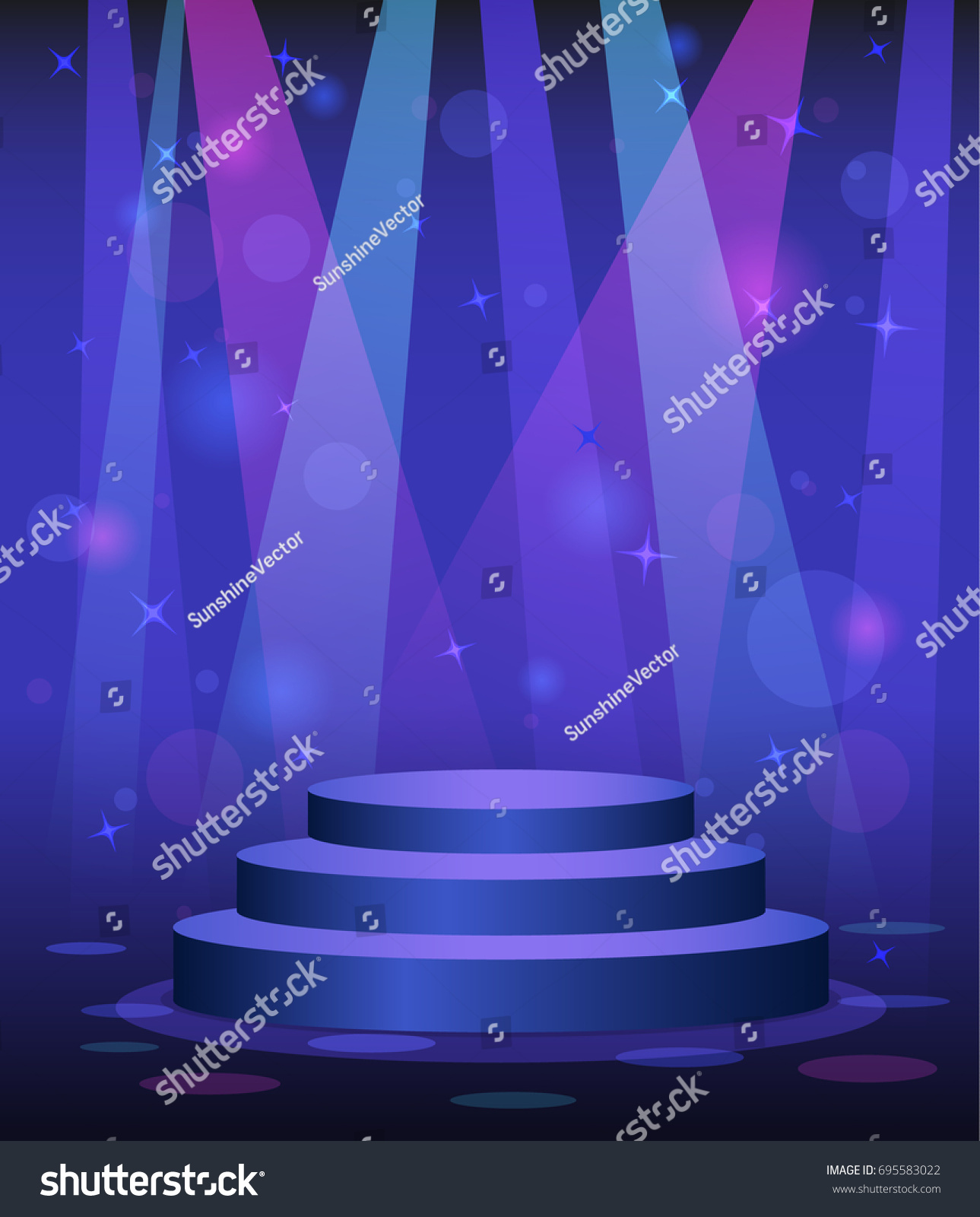 Stage Podium Disco Nightclub Dance Floor Stock Vector Royalty