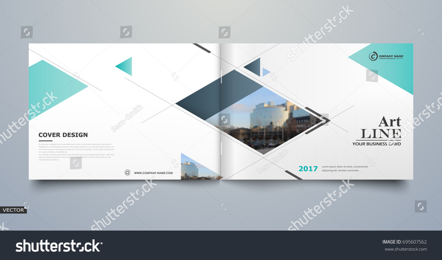 White Business Card Style A4 Brochure Stock Vector 695607562 ...