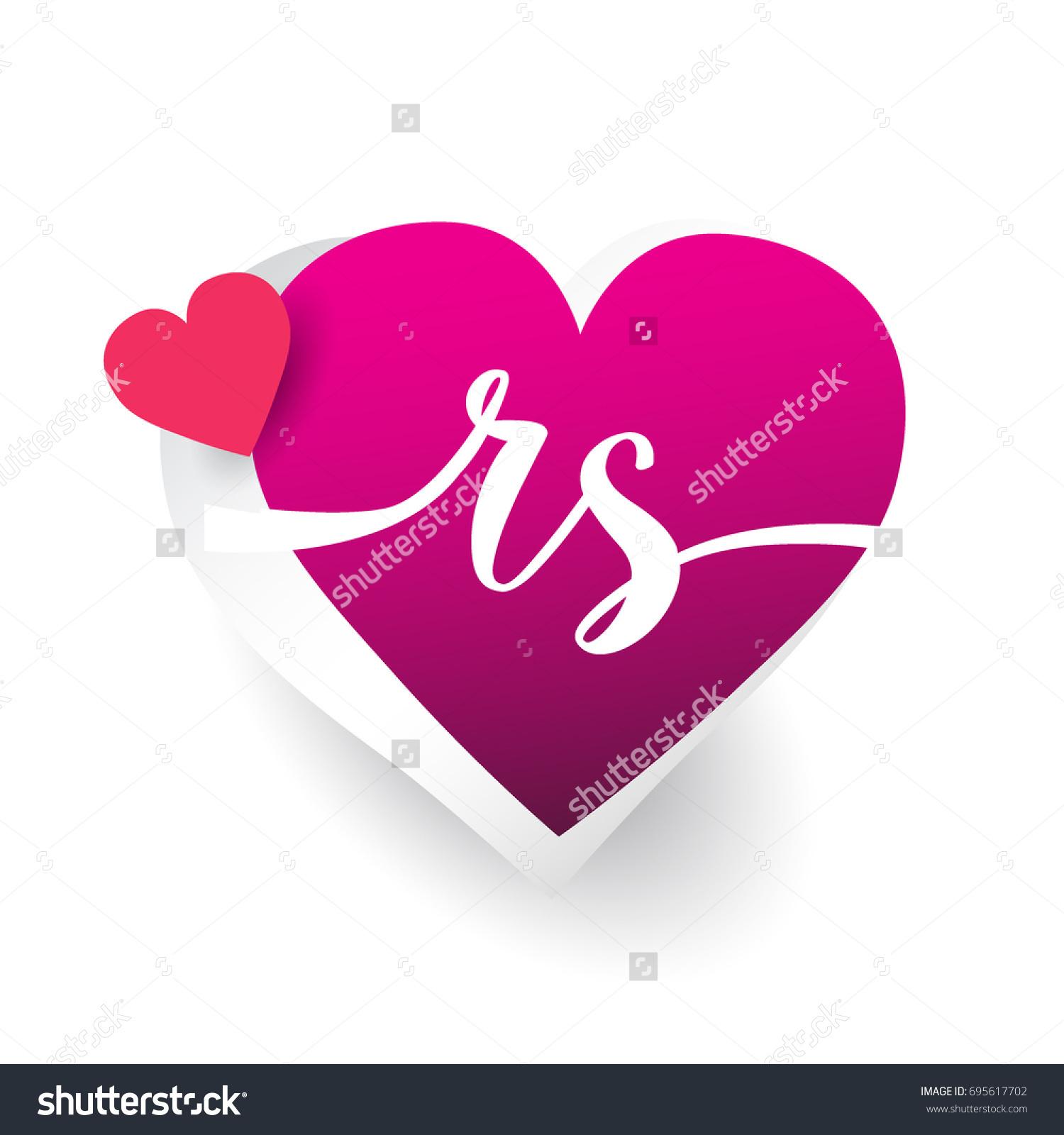 rs love photos  Initial Logo Letter RS Heart Shape Stock Vector 695617702 - Shutterstock