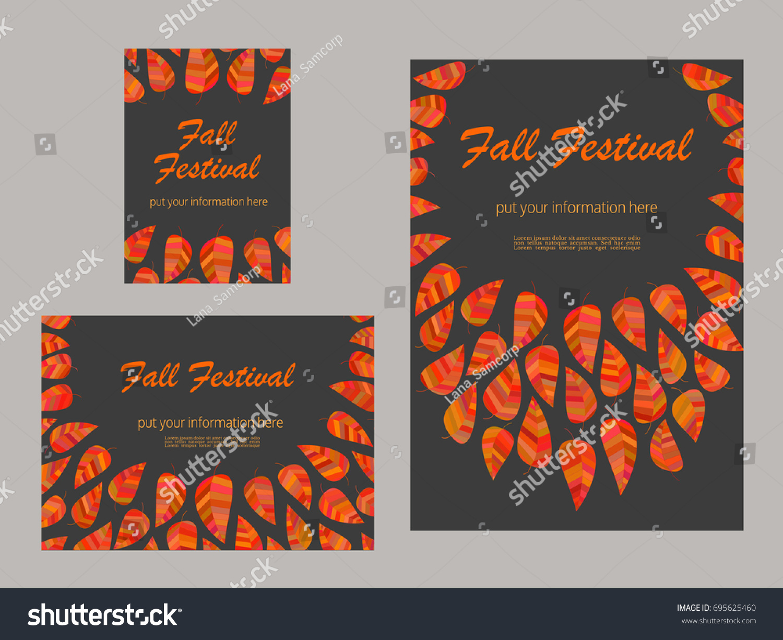 set advertising flyers templates presentation leaflet stock vector