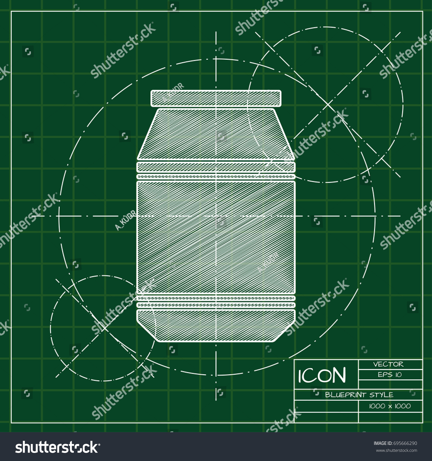 Vector blueprint kitchen bottle template on stock vector 695666290 vector blueprint kitchen bottle template on engineer and architect background malvernweather Image collections