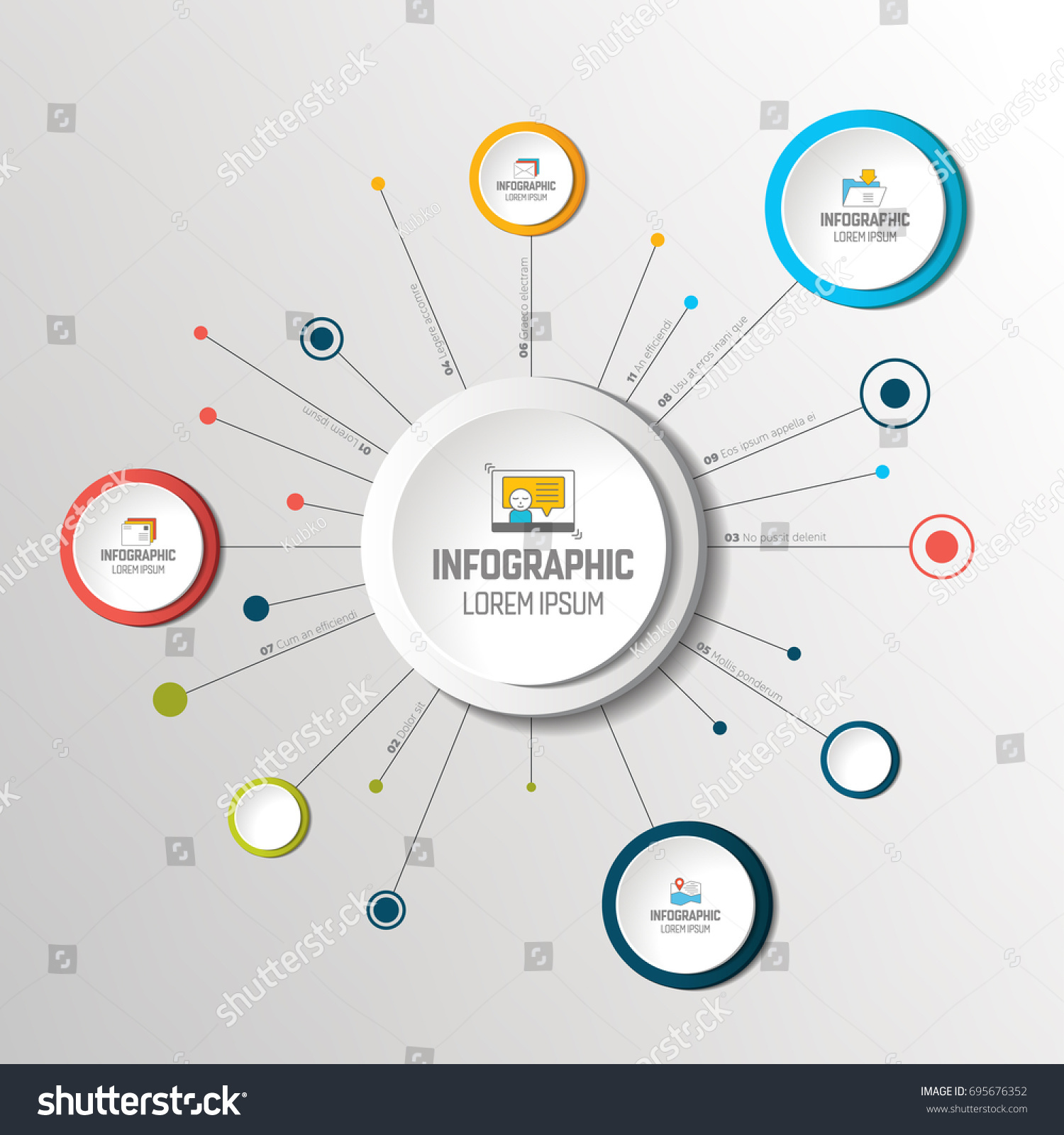 Net molecule structure circles infographic template stock vector net molecule structure with circles infographic template network flow chart nvjuhfo Image collections