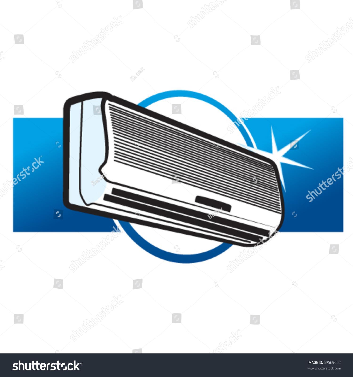 Split Air Conditioner Stock Vector Illustration 69569002  #004B8F