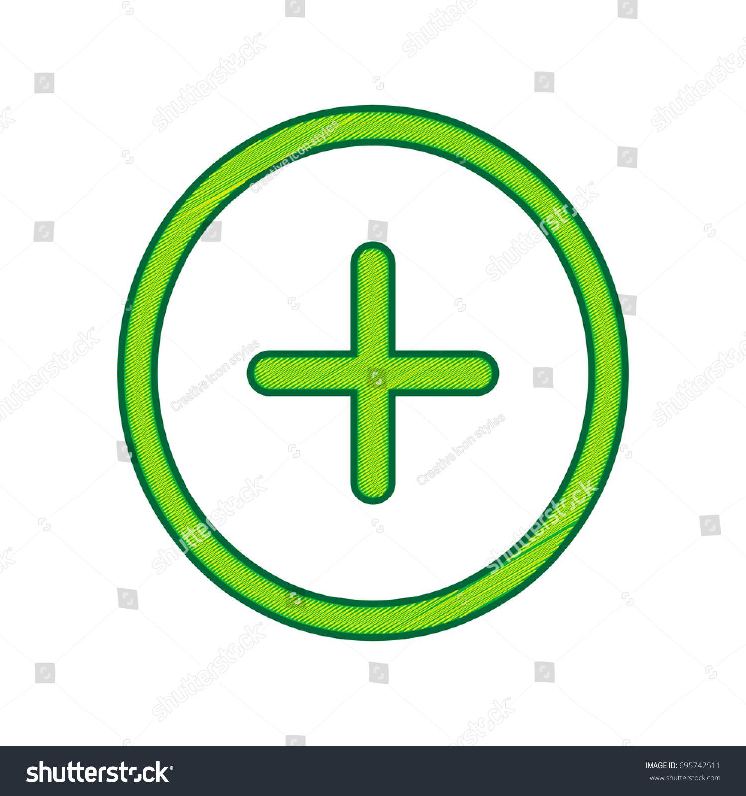 Positive symbol plus sign vector lemon stock vector 695742511 positive symbol plus sign vector lemon scribble icon on white background isolated biocorpaavc Choice Image
