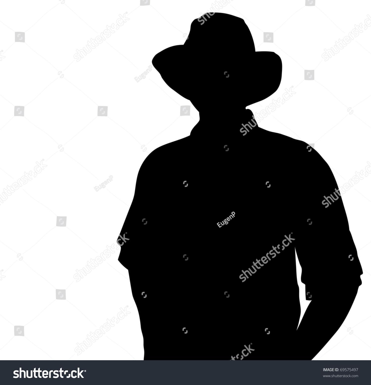 cowboy silhouette vector 69575497 shutterstock