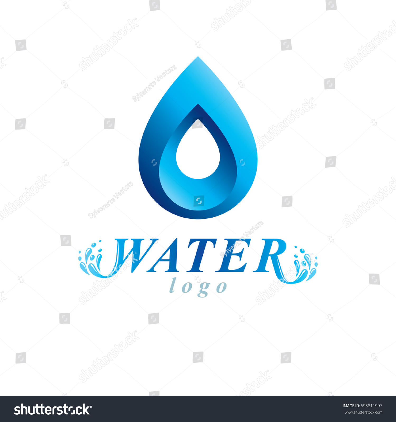 Ocean freshness theme vector symbol use stock vector 695811997 ocean freshness theme vector symbol for use in spa and resort organizations mineral water advertising biocorpaavc Gallery
