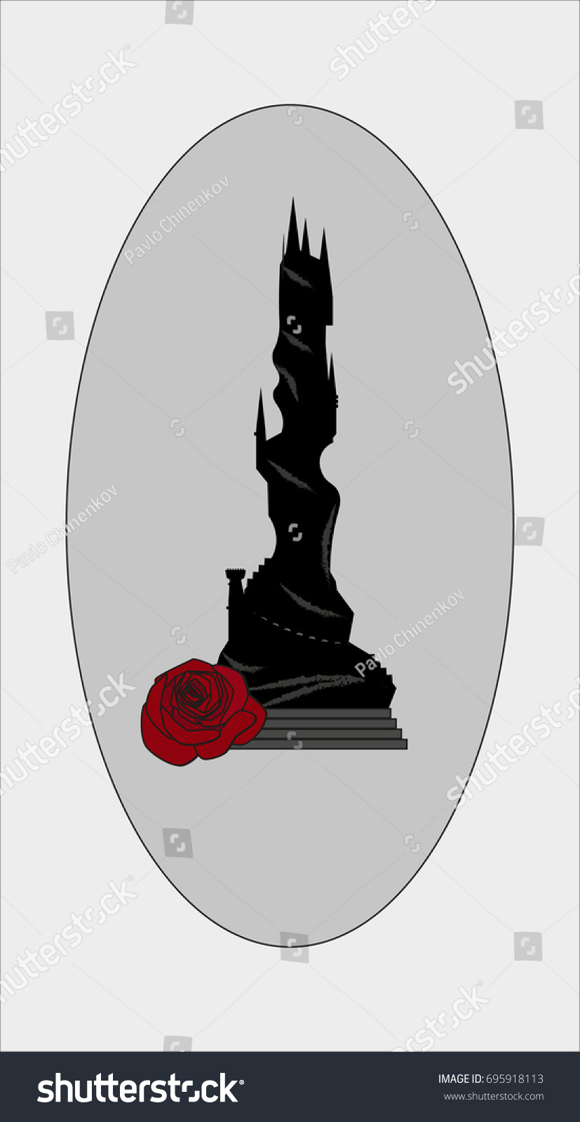 Dark Mysterious Vector Dark Tower Stock Vector Royalty Free