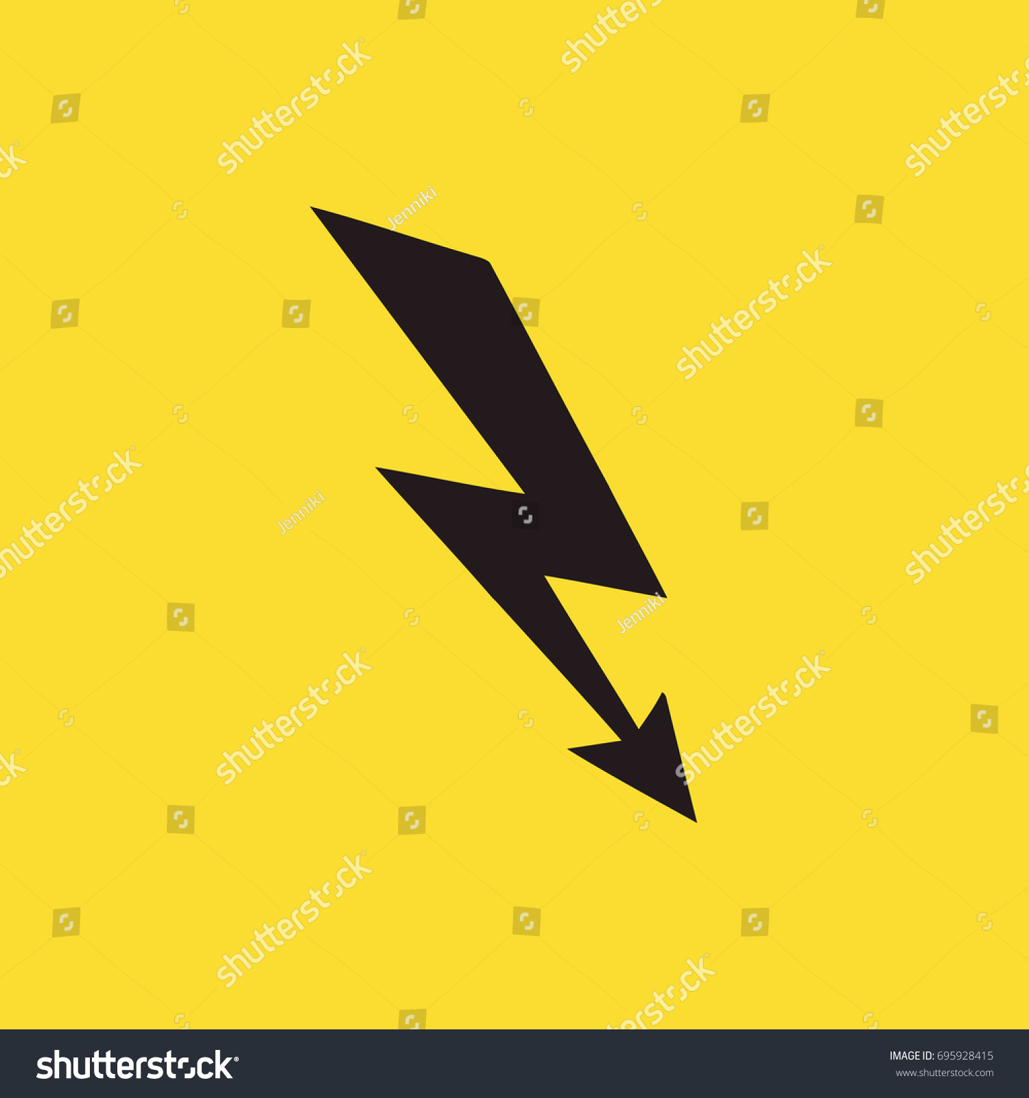 Lightning Bolt Icon Electricity Sign Isolated Stock Vector ... for Electricity Lightning Bolt  150ifm