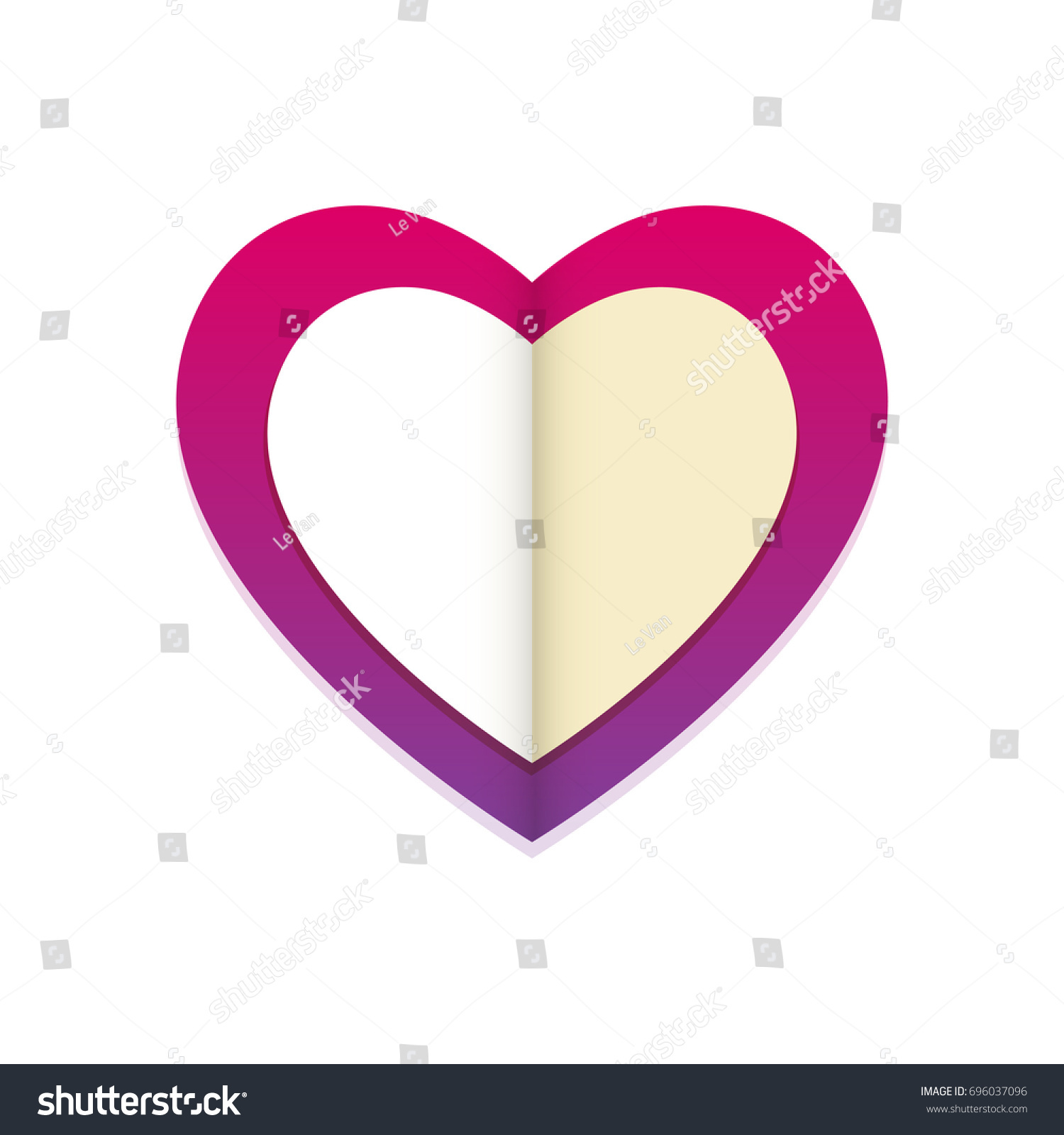 Purple heart note within stock vector 696037096 shutterstock purple heart with a note within buycottarizona