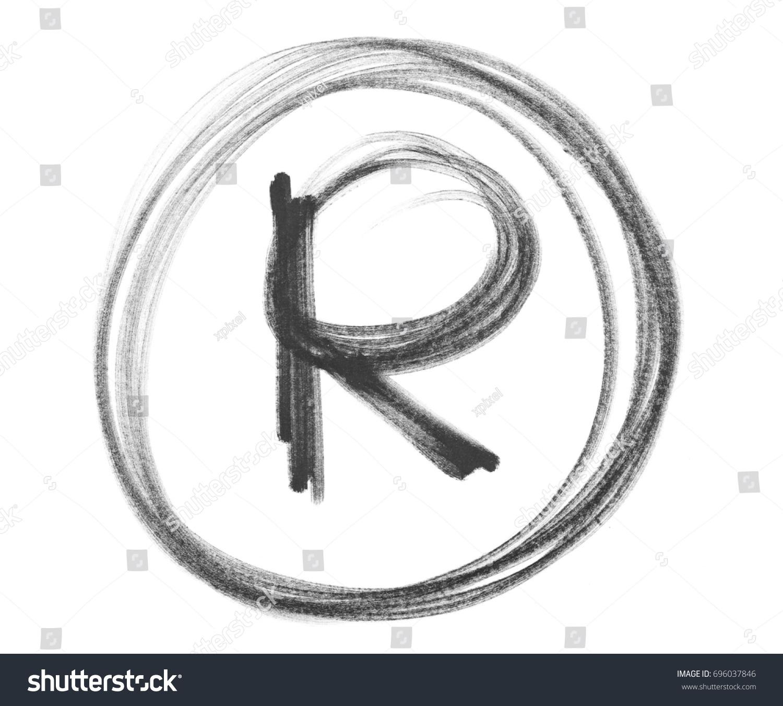Black Marker Registered Trademark Symbol R Stock Illustration