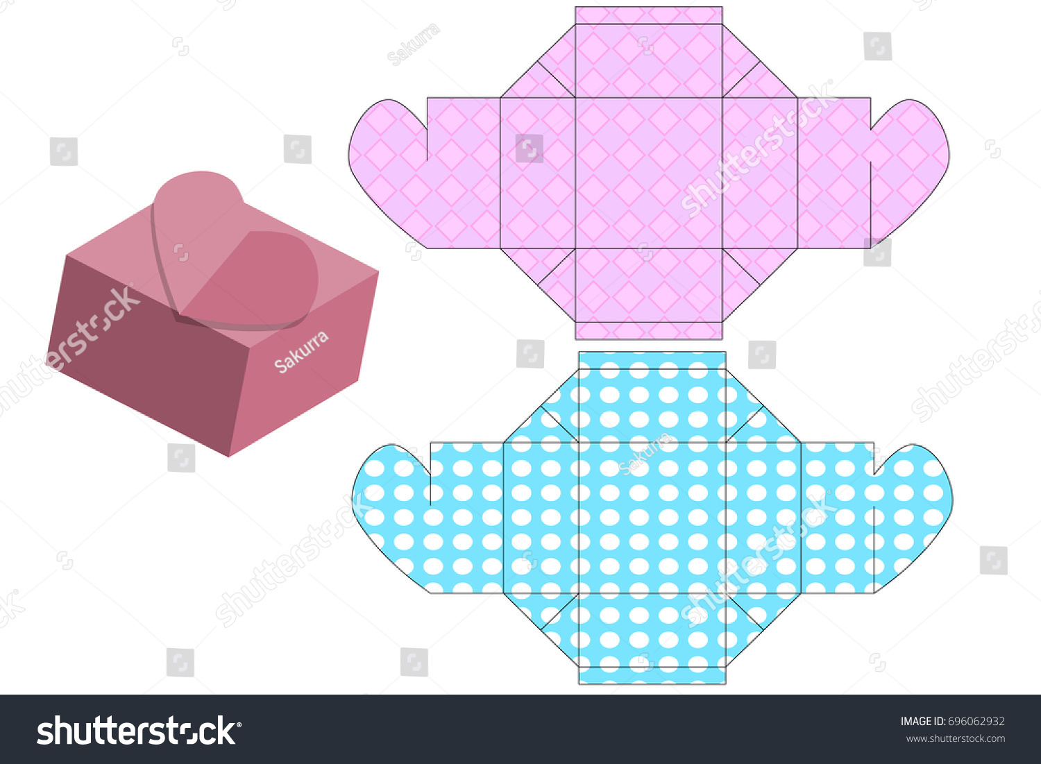Printable Templates Gift Boxes Bags Things Vector 696062932 – Templates for Gift Boxes