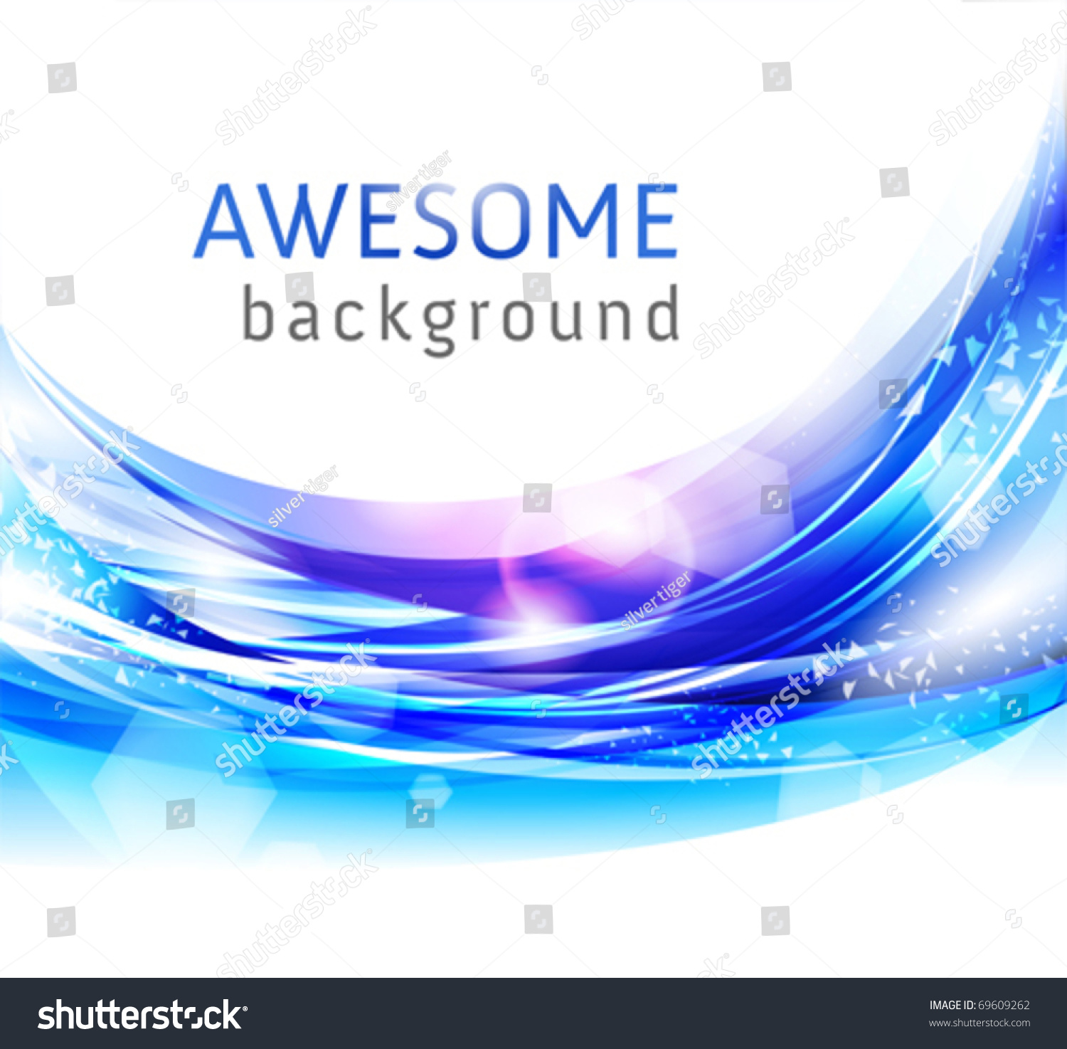 Vector Awesome Abstract Blue Backgrounds Business Stock
