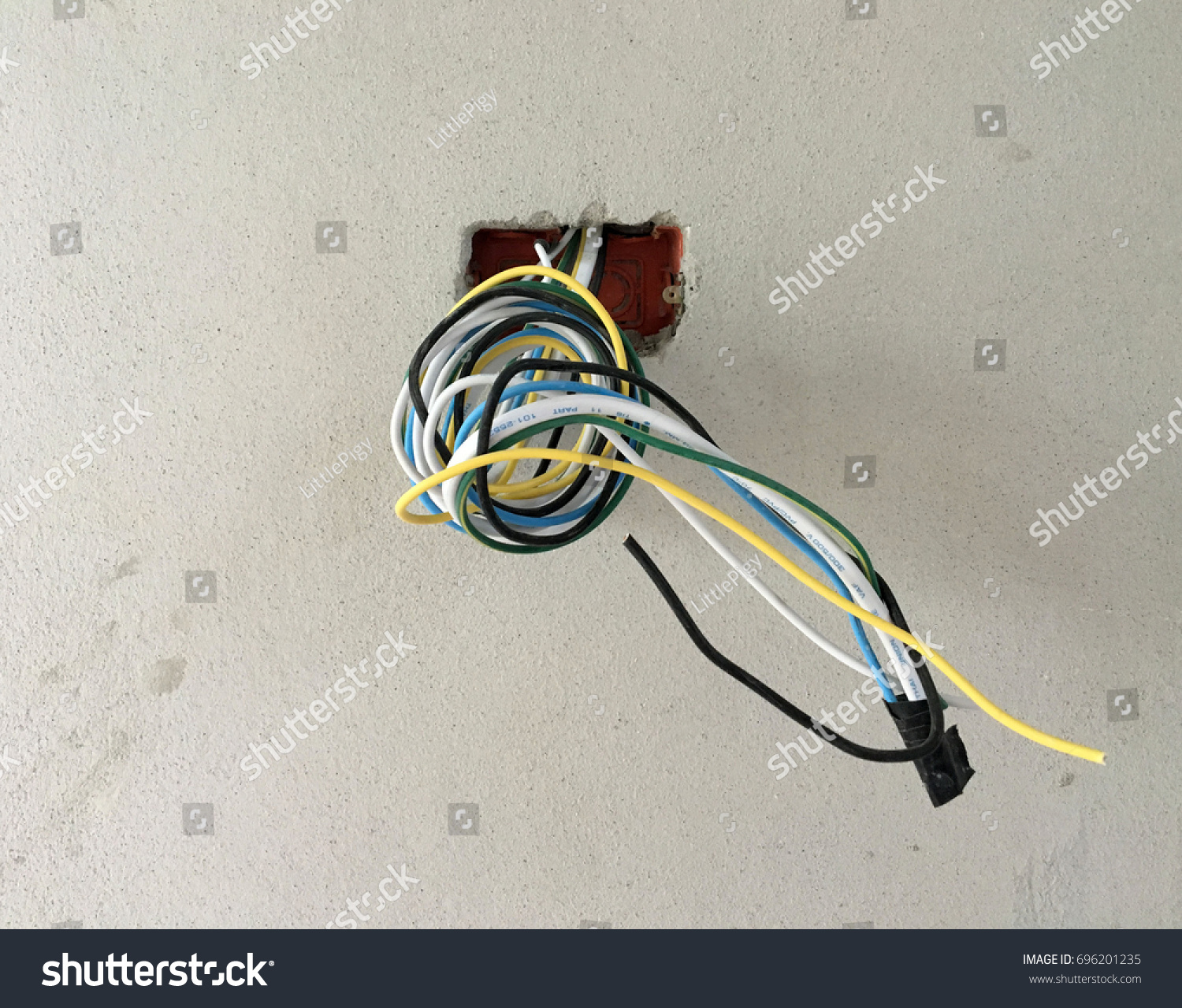 Home Wiring Switch Box Stock Photo Edit Now 696201235