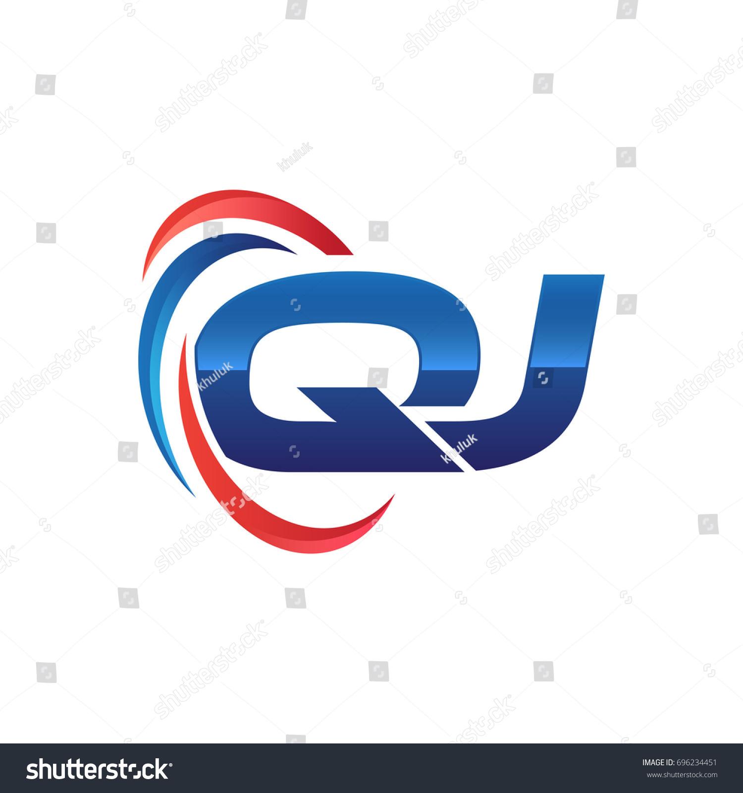 initial letter logo swoosh red blue stock vector 696234451 rh shutterstock com swoosh login family member swoosh logo meaning