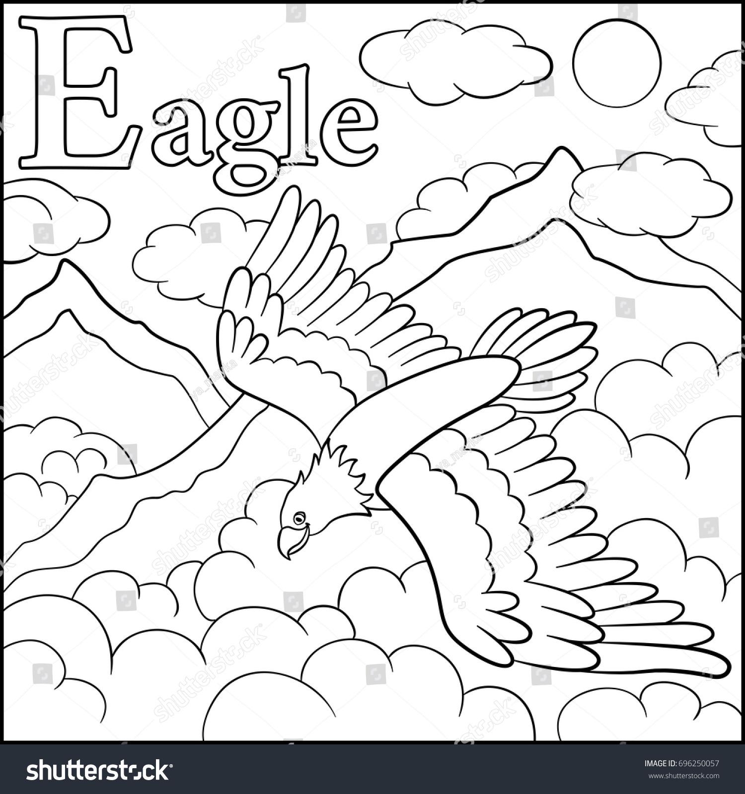 Coloring Page Cartoon Animals Alphabet E Stock Photo (Photo, Vector ...