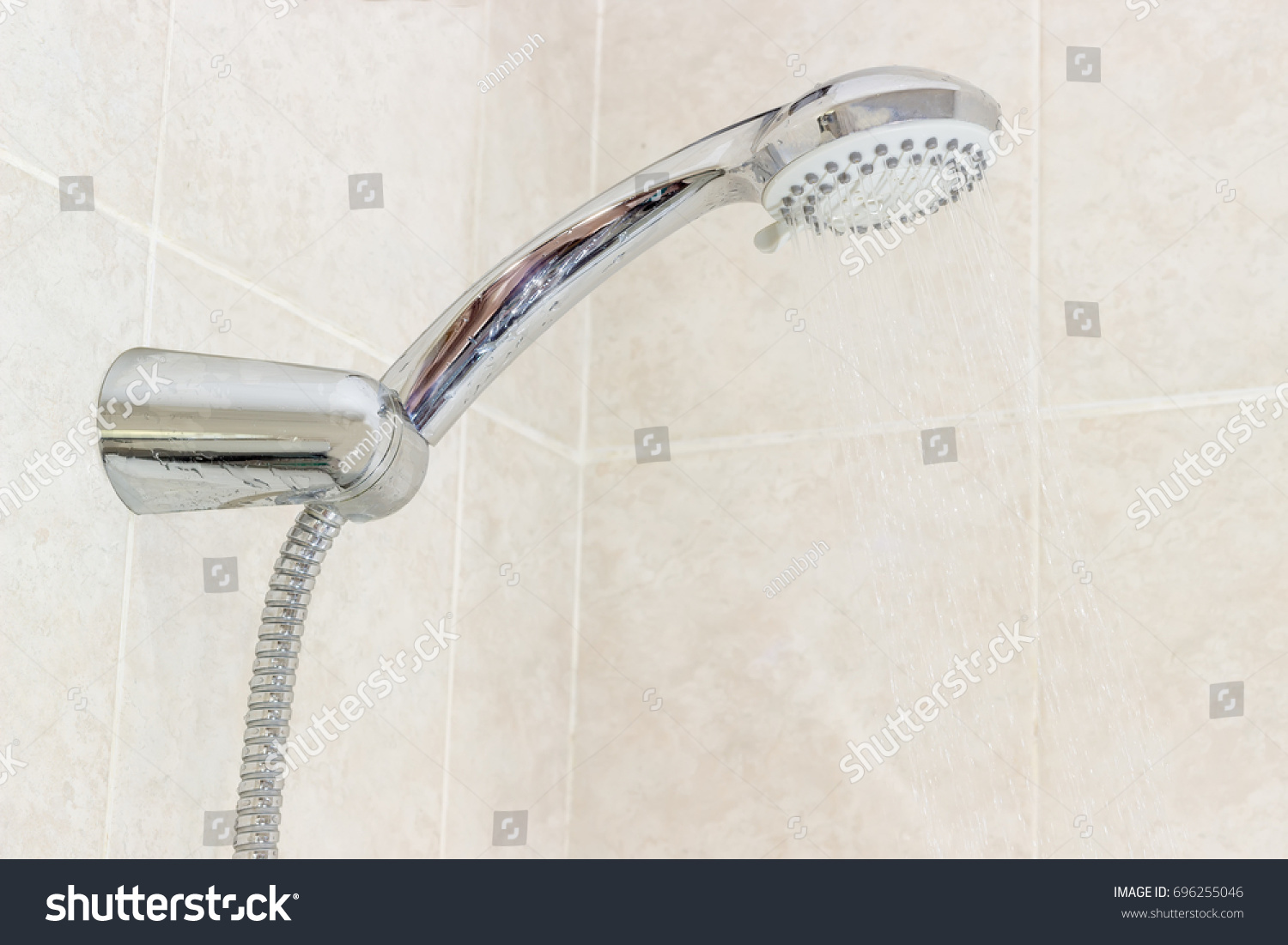 Shower Head Metal Shower Hose Holder Stock Photo 696255046 ...