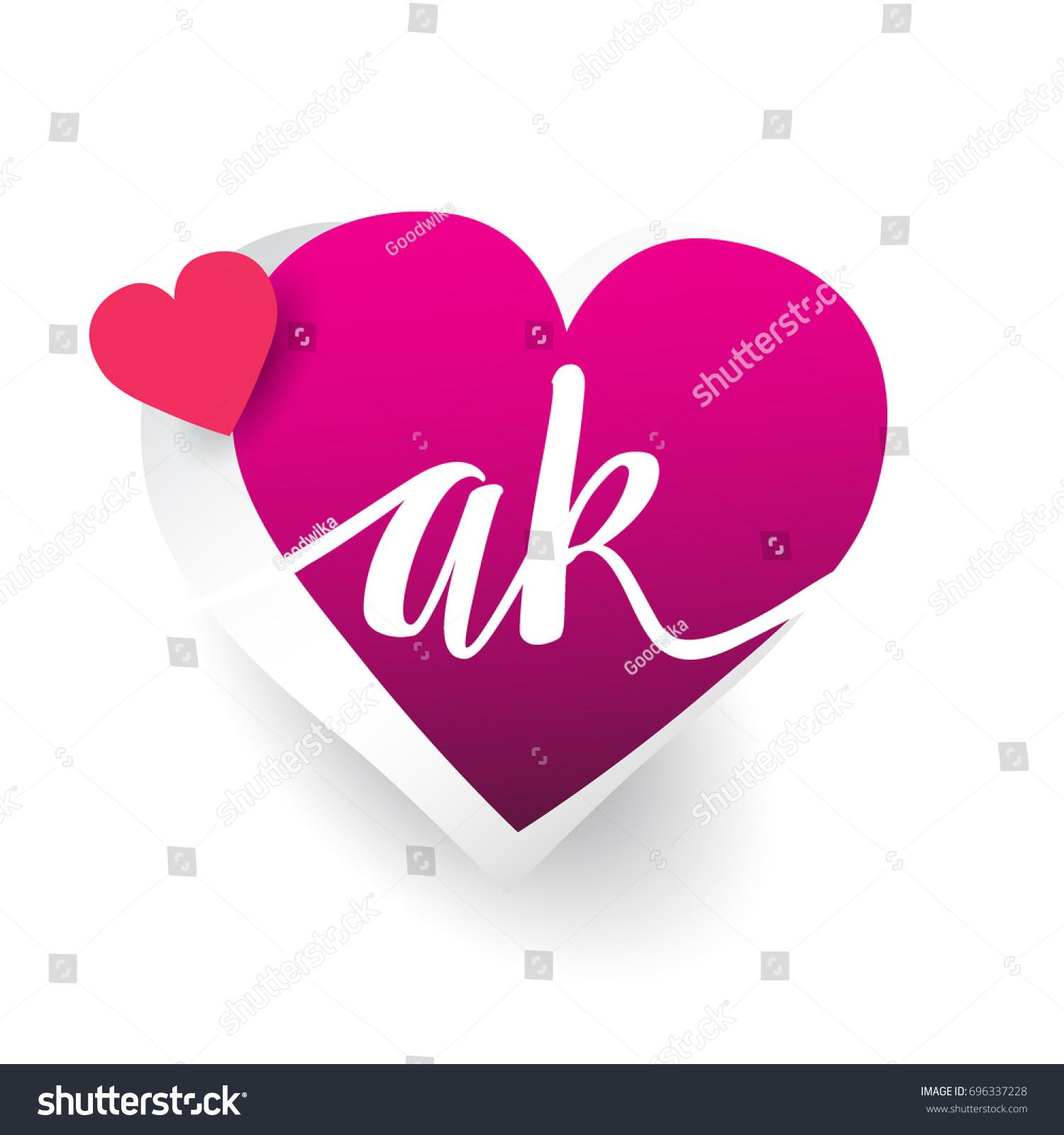 initial logo letter ak heart shape stock vector royalty free 696337228 https www shutterstock com image vector initial logo letter ak heart shape 696337228