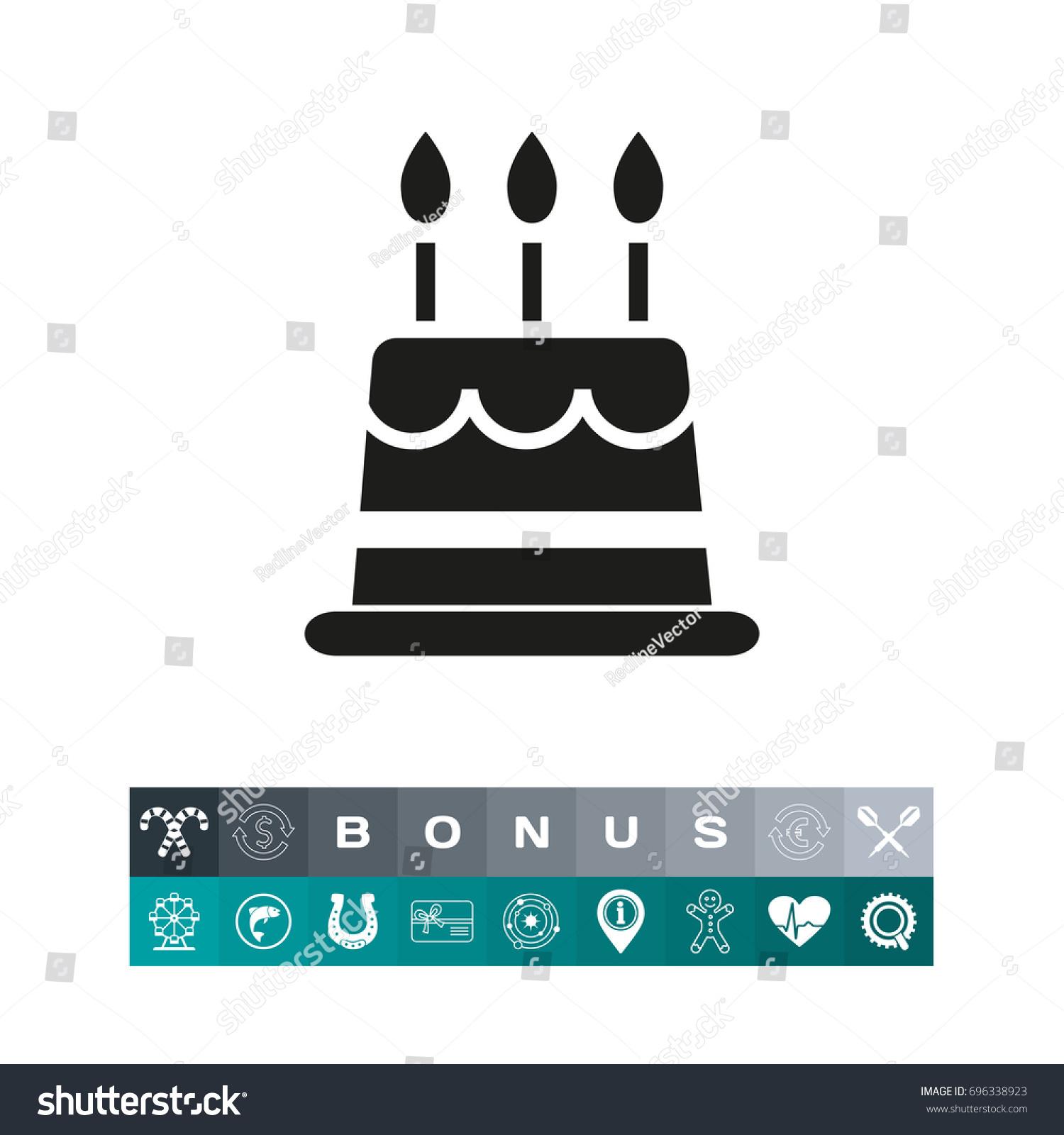 Birthday cake icon stock vector 696338923 shutterstock birthday cake icon buycottarizona
