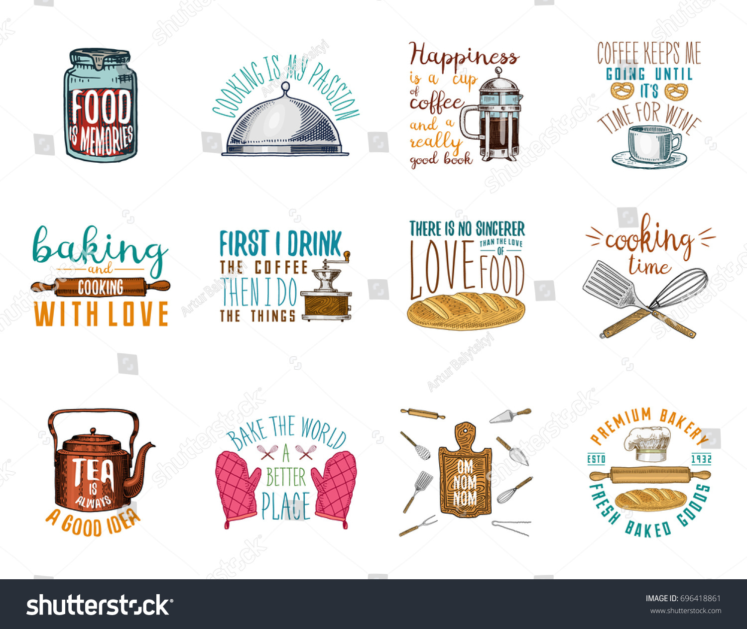 Coffee Maker Kettle French Press Rolling Stock Vector 696418861 - Shutterstock