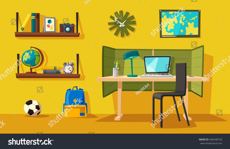 Dessin D Une Chambre D Enfant image vectorielle de stock de intérieur créatif. chambre d