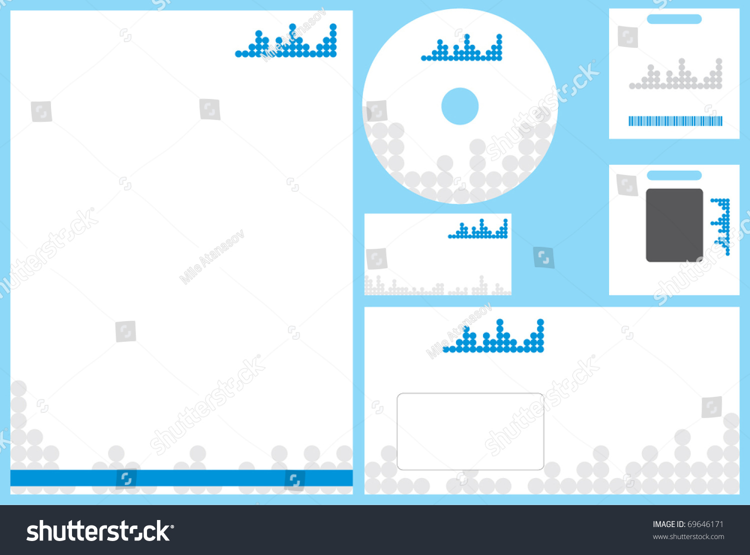 Modern Business Stationery Template Business Card Stock Vector ...
