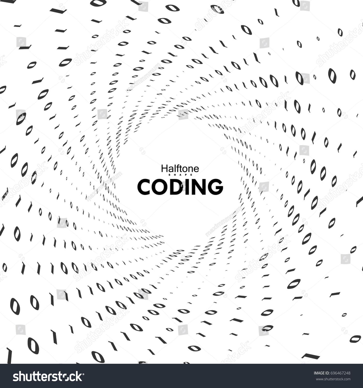 Streaming Binary Code 3 D Vector Shape Stock Vector Royalty Free