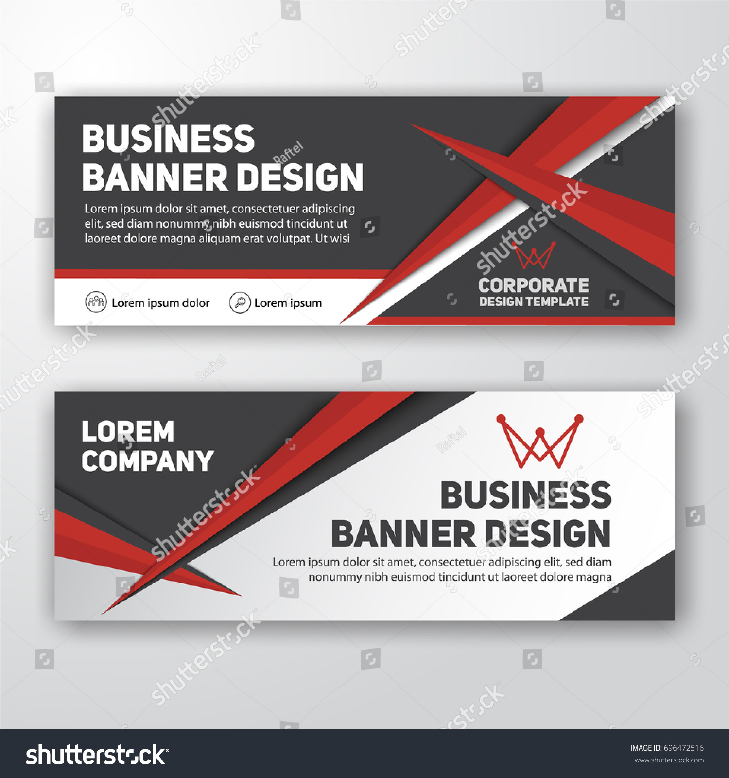 Modern corporate banner background design letterhead stock vector modern corporate banner background design for letterhead document header web banner vector illustration spiritdancerdesigns Image collections