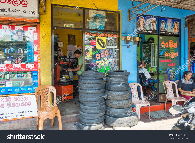 Galle Sri Lanka December 16little Shops Stock Photo (Edit