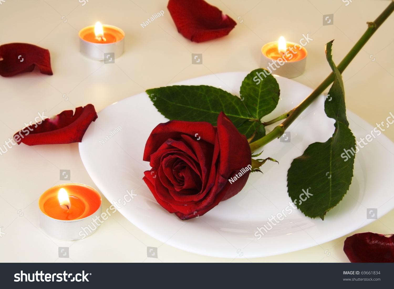 stock photo romantic dinner valentine image