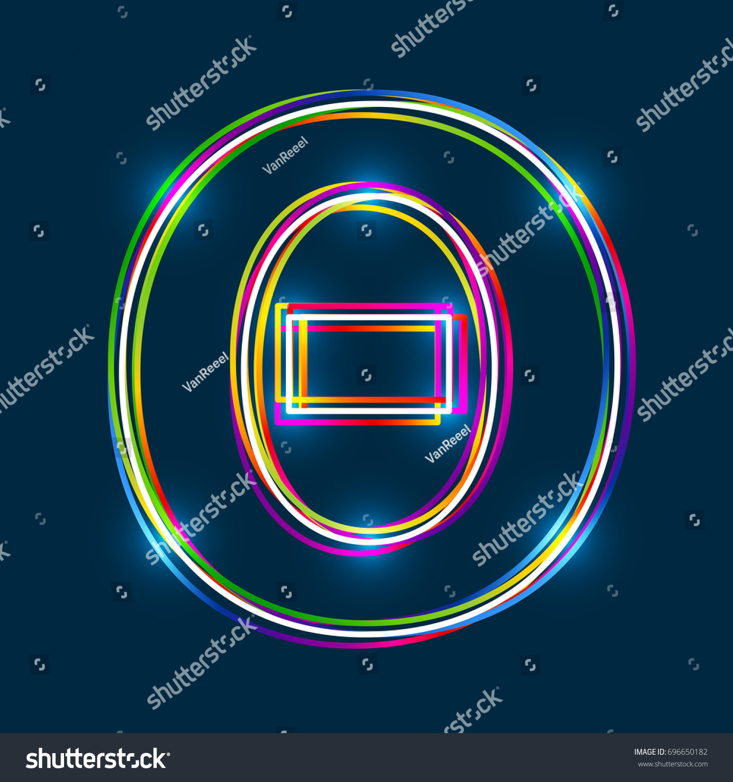Greek capital letter theta multicolor outline stock vector greek capital letter theta multicolor outline font with glowing effect on blue background vector biocorpaavc Image collections