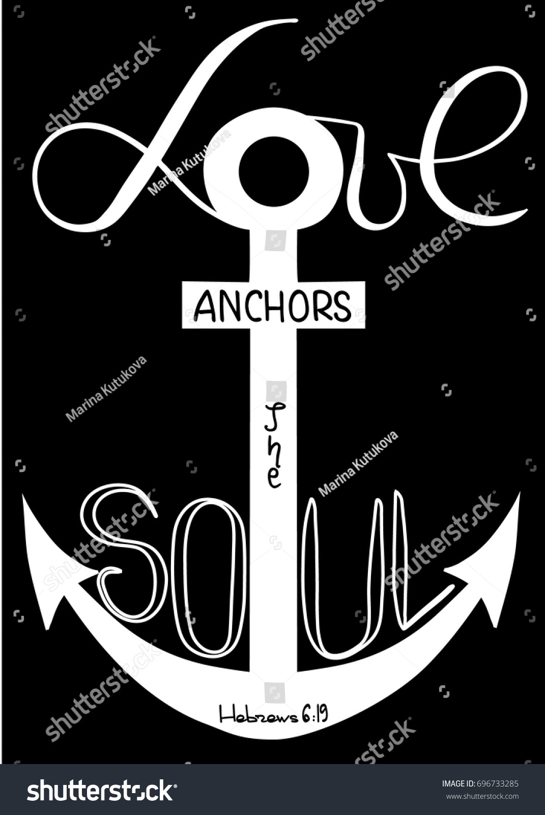 Love Anchors Soul Word Son God Stock Vector Royalty Free 696733285