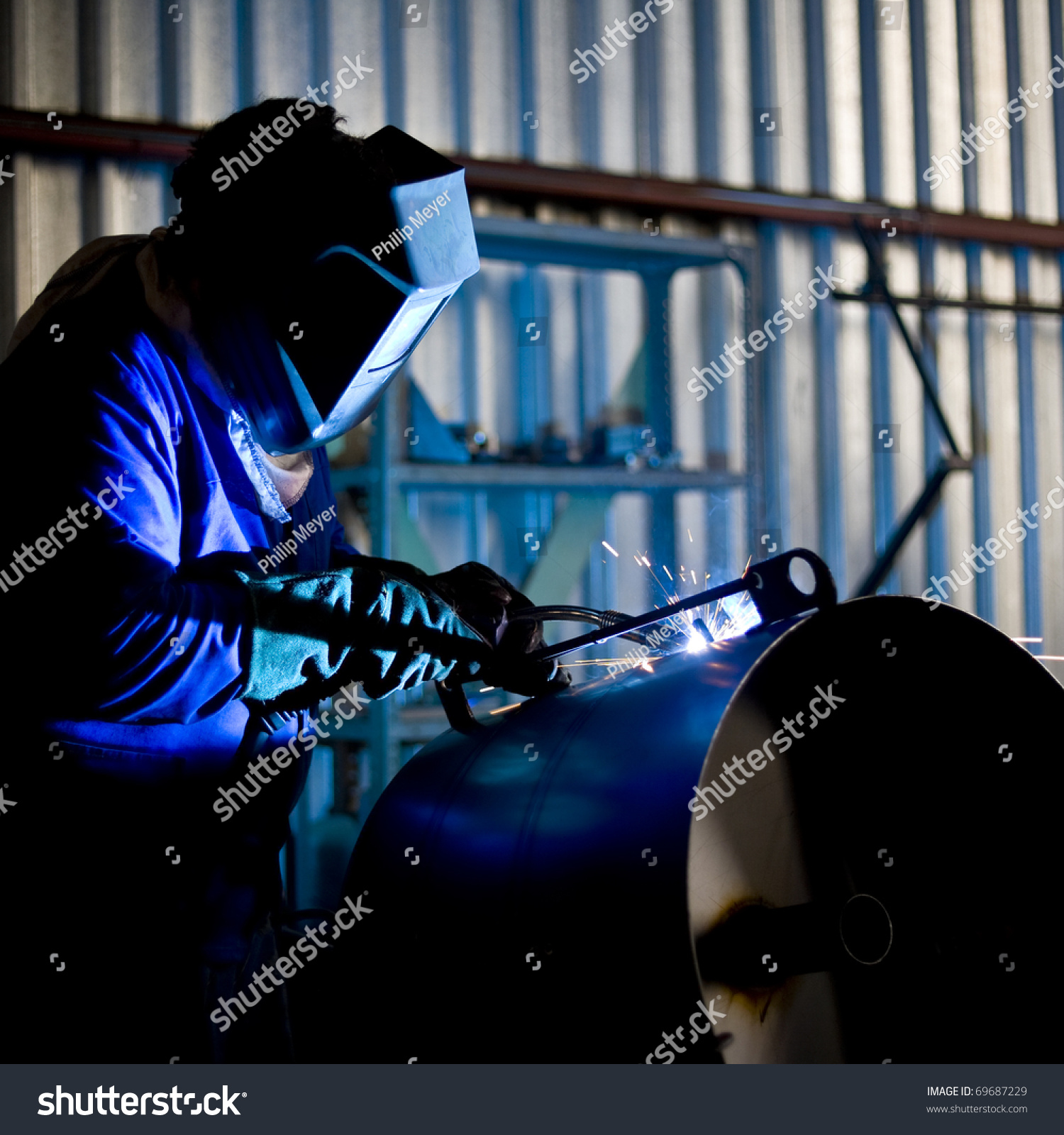 Stock Photo Coded Welder
