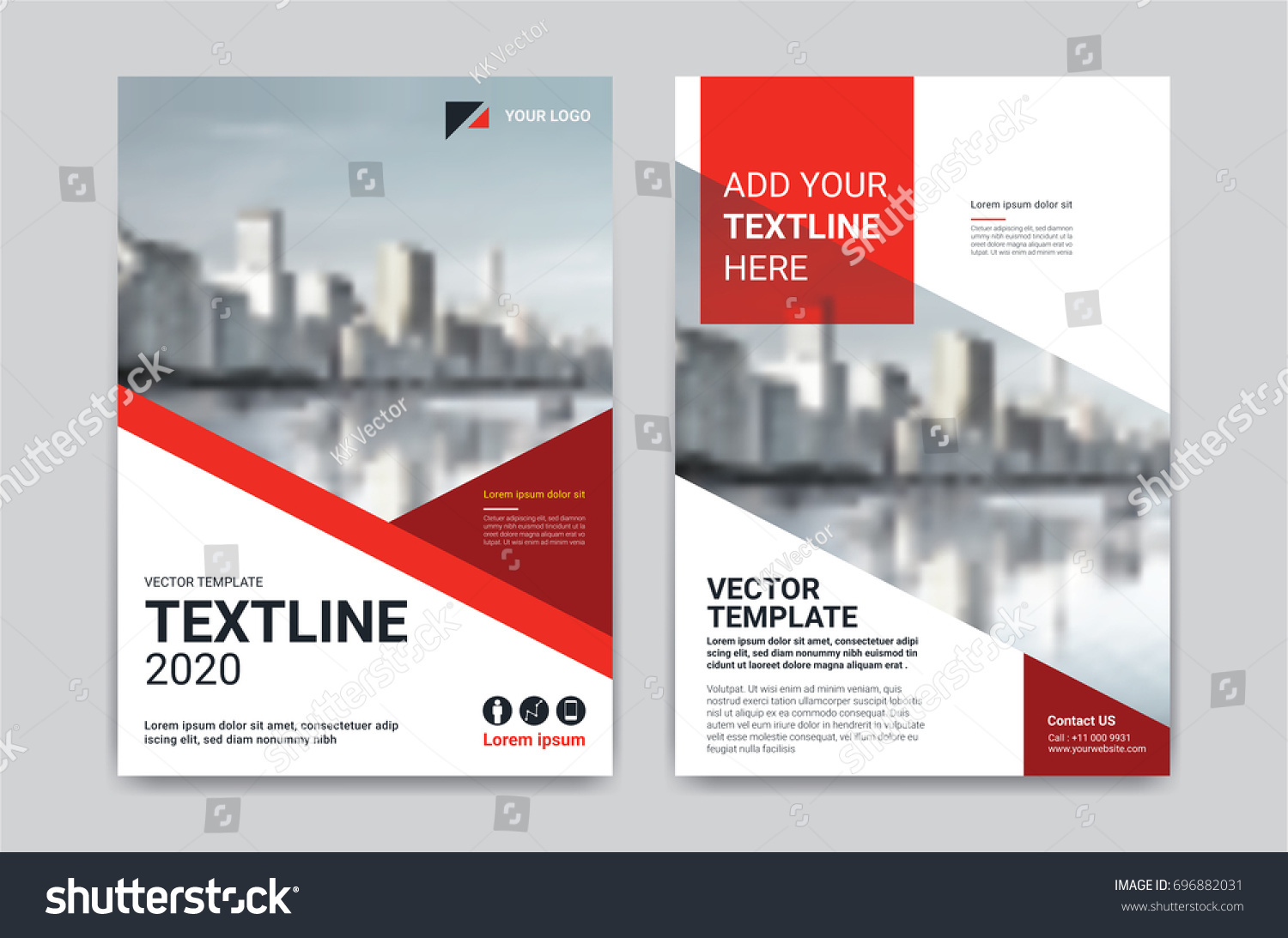Vector Geometric Flyer Design Design Template Stock Vector 696882031 ...