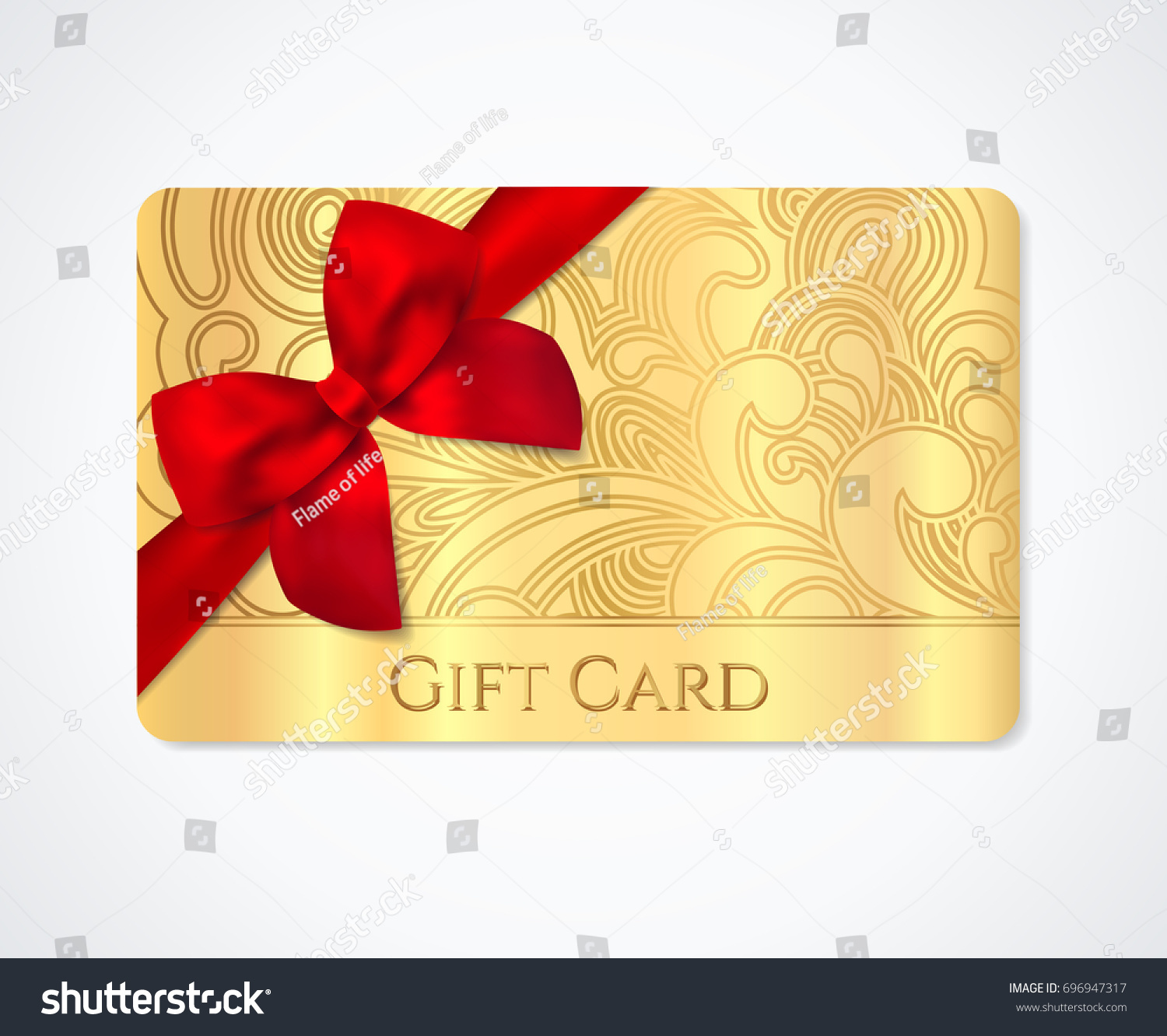 Gift Coupon Gift Card Discount Business Stock Vector
