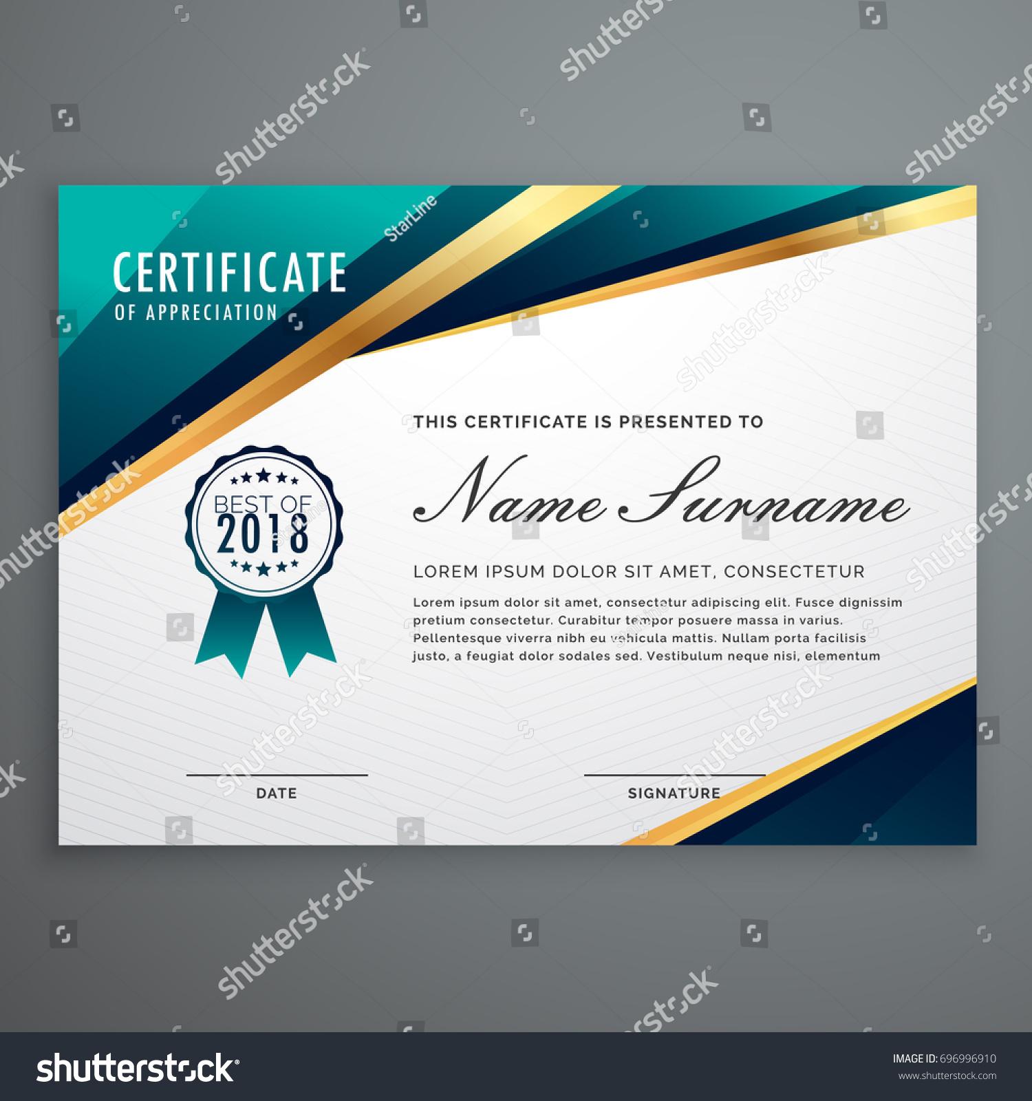 Certificate design luxury golden shapes diploma stock vector certificate design with luxury golden shapes diploma template alramifo Images