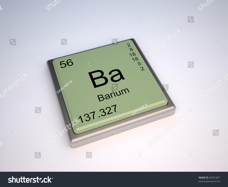 Barium Chemical Element Periodic Table Symbol Stock Illustration
