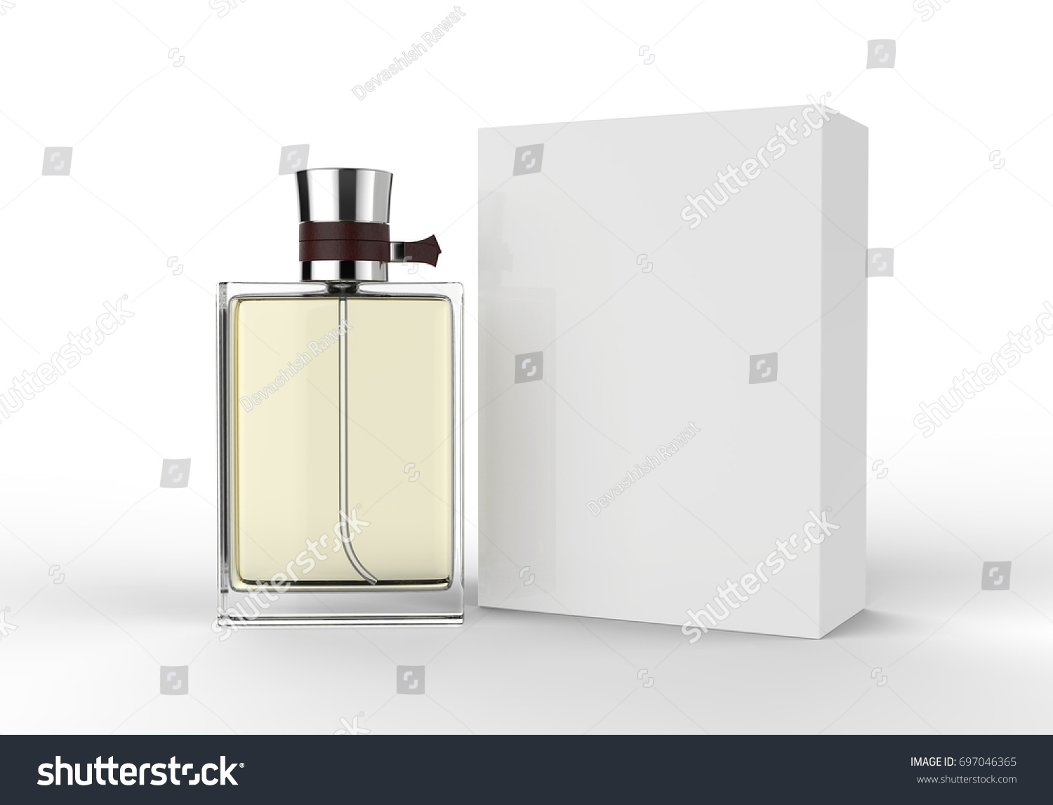 cologne box template - perfume bottle box mock template on stock illustration