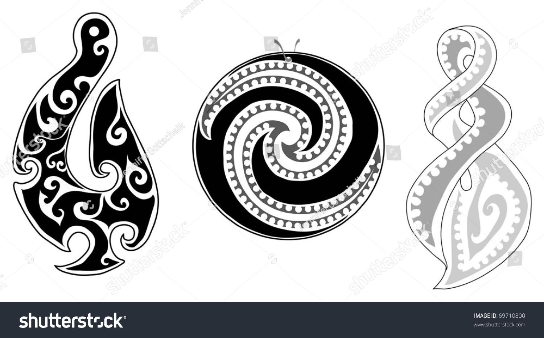 Maori Twist Tattoo: Detailed Maori Koru (Fern), Eternity Twist And Fish Hook