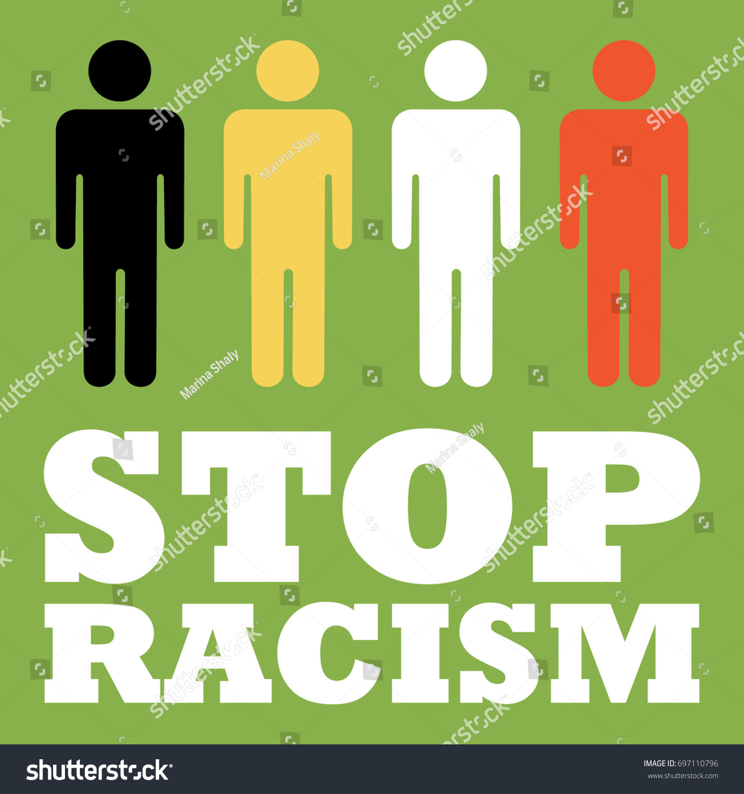 Stop racism poster skin color human stock vector 697110796 stop racism poster with skin color in human vector illustration flat style abstract biocorpaavc Images