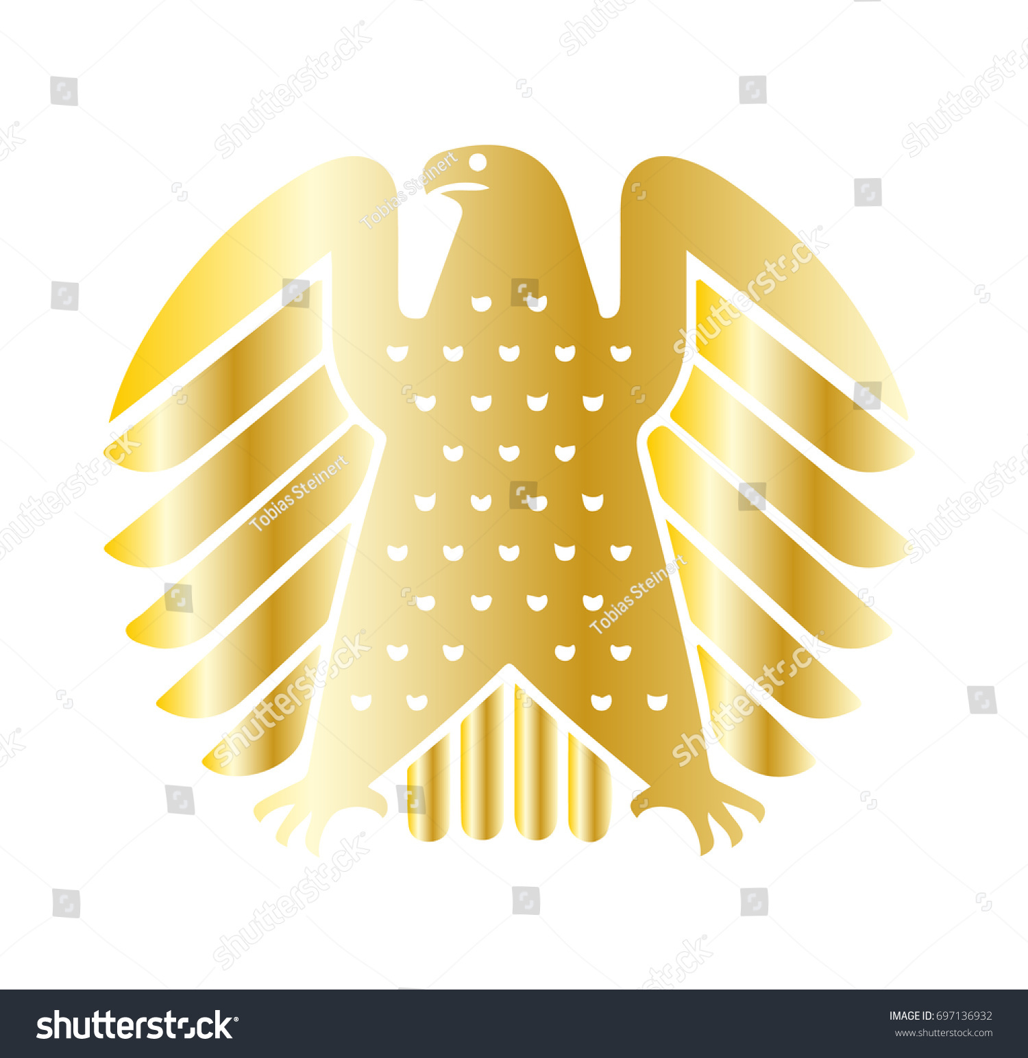 German Eagle National Symbol Stock Vector Royalty Free 697136932
