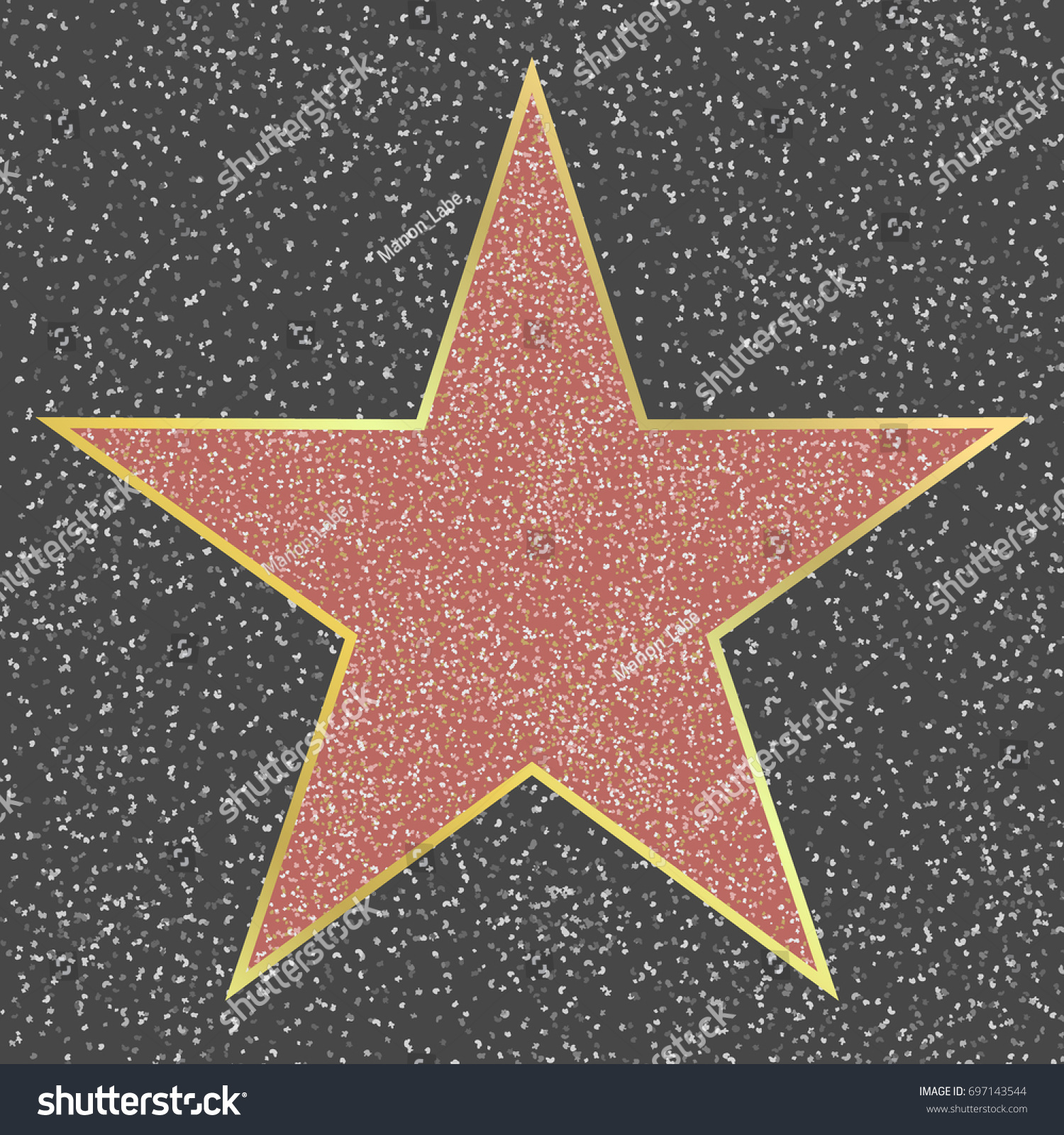 walk fame hollywood boulevard celebrity star stock vector