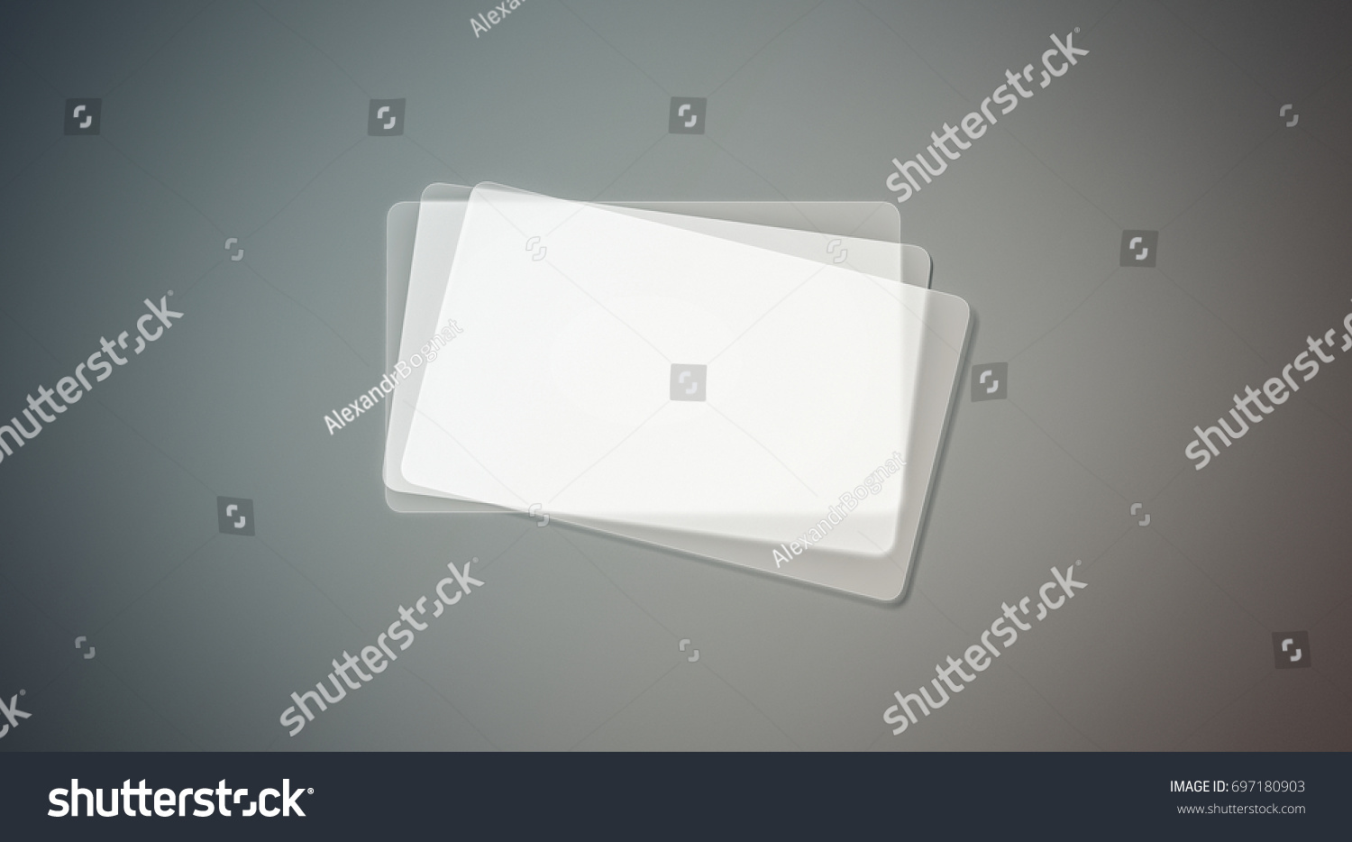 Blank Plastic Transparent Business Cards Stack Stock Illustration ...