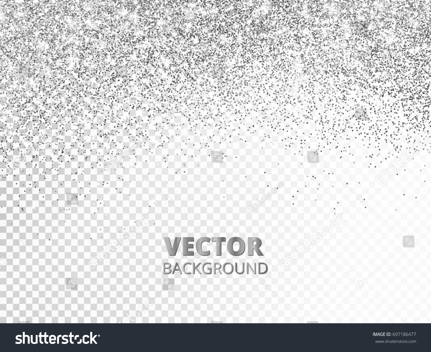 Falling glitter confetti vector silver dust em vetor stock 697186477 falling glitter confetti vector silver dust isolated on transparent background sparkling glitter border stopboris Image collections