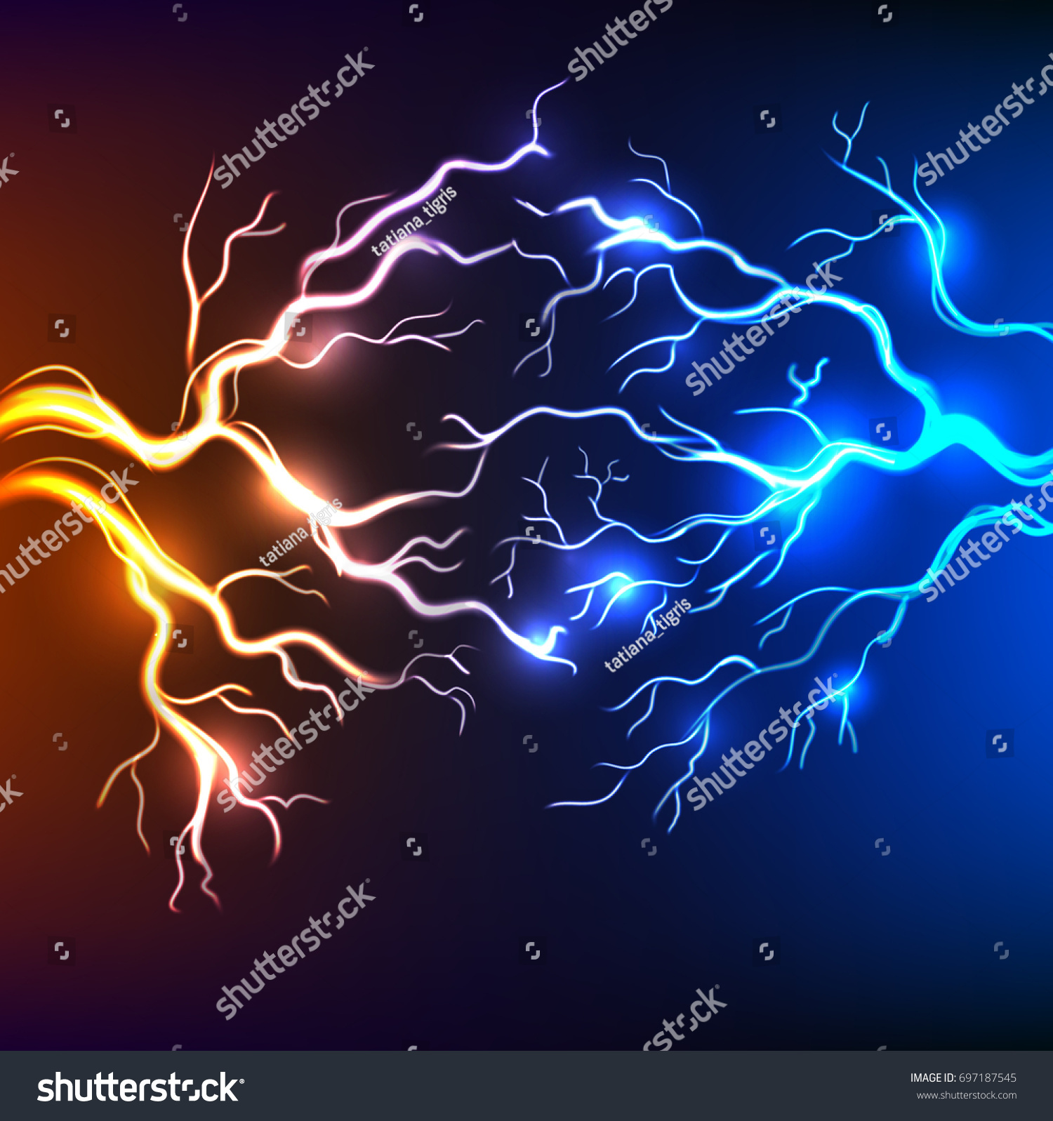 Electric Effect Connected Lightning Bolts Background Stock Vector ... for Electricity Lightning Bolt  45hul