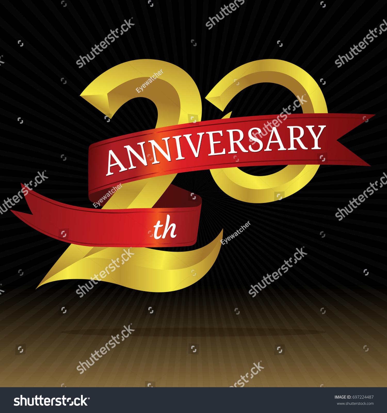 20th years anniversary vector symbol stock vector 697224487 20th years anniversary vector symbol biocorpaavc Choice Image