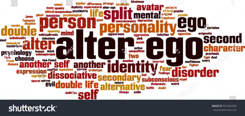 Alter Ego Word Cloud Concept Vector Stock Vector (Royalty