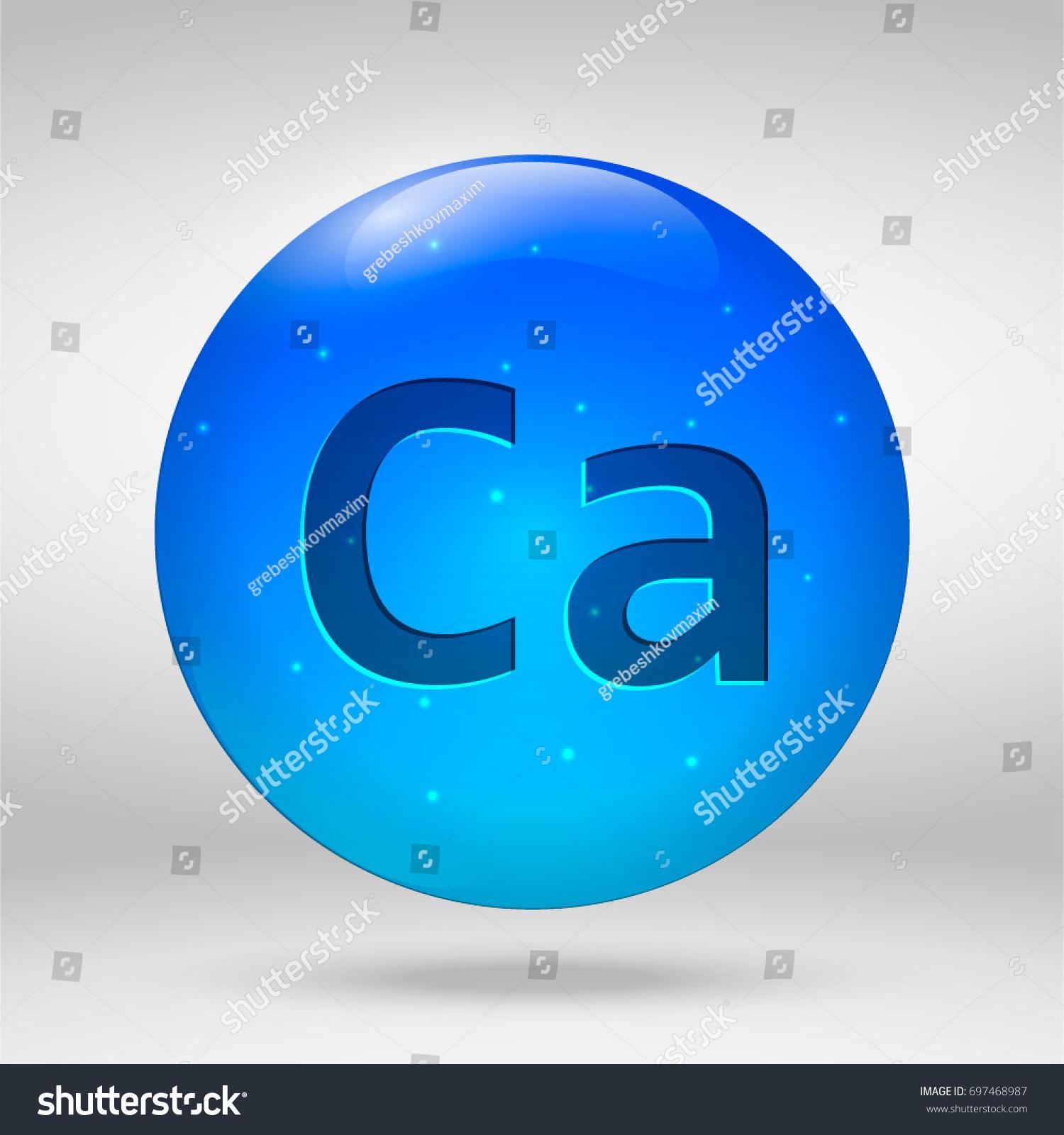 Calcium element periodic table vector 3d stock vector 697468987 calcium element of the periodic table vector 3d glossy drop pill capsule icon buycottarizona