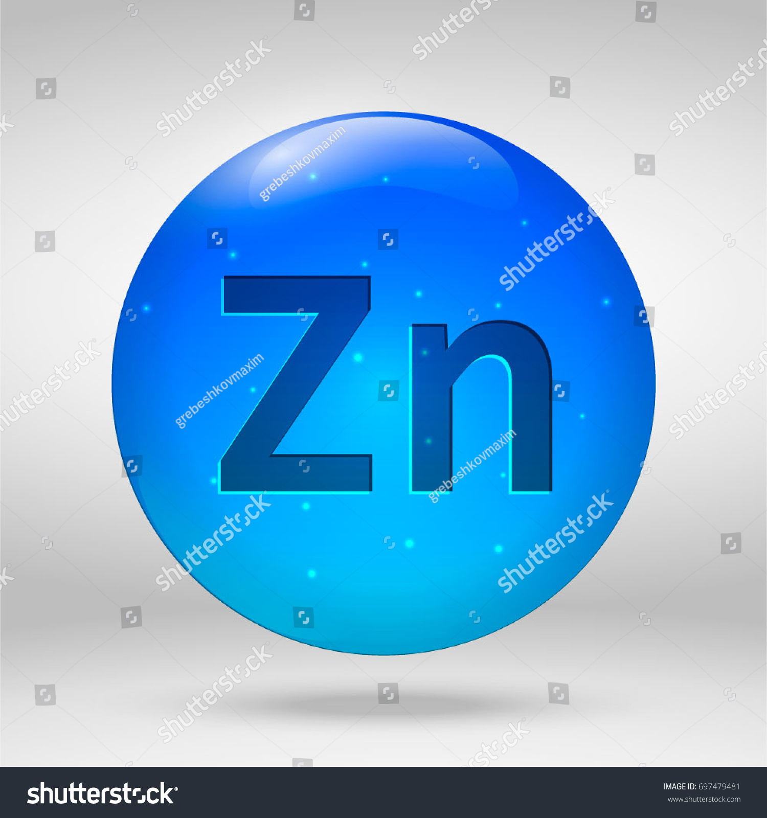 Zinc element periodic table vector 3d stock vector 697479481 zinc element of the periodic table vector 3d glossy drop pill capsule icon gamestrikefo Image collections