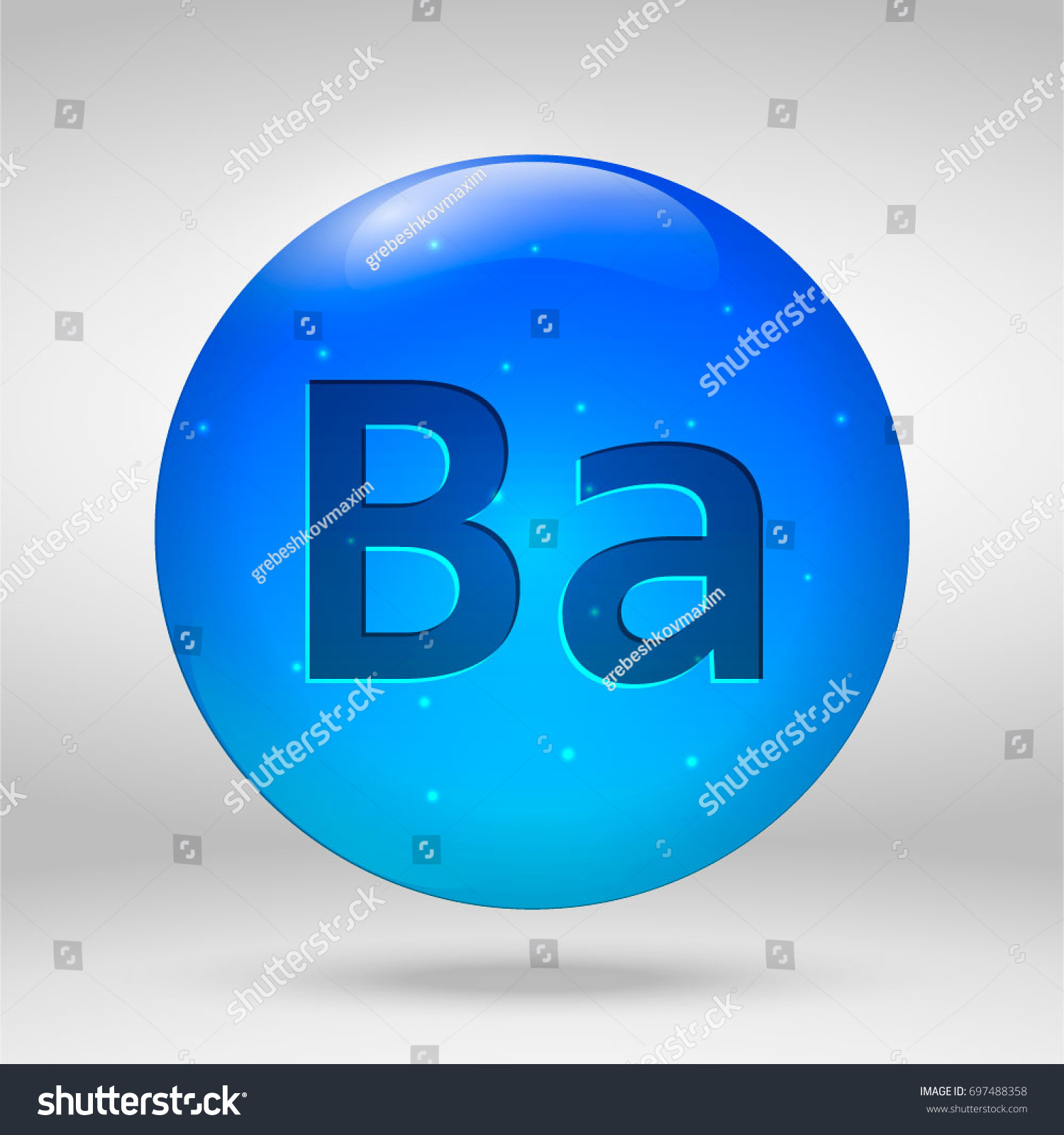 Barium element periodic table vector 3d stock vector 697488358 barium element of the periodic table vector 3d glossy drop pill capsule icon gamestrikefo Image collections